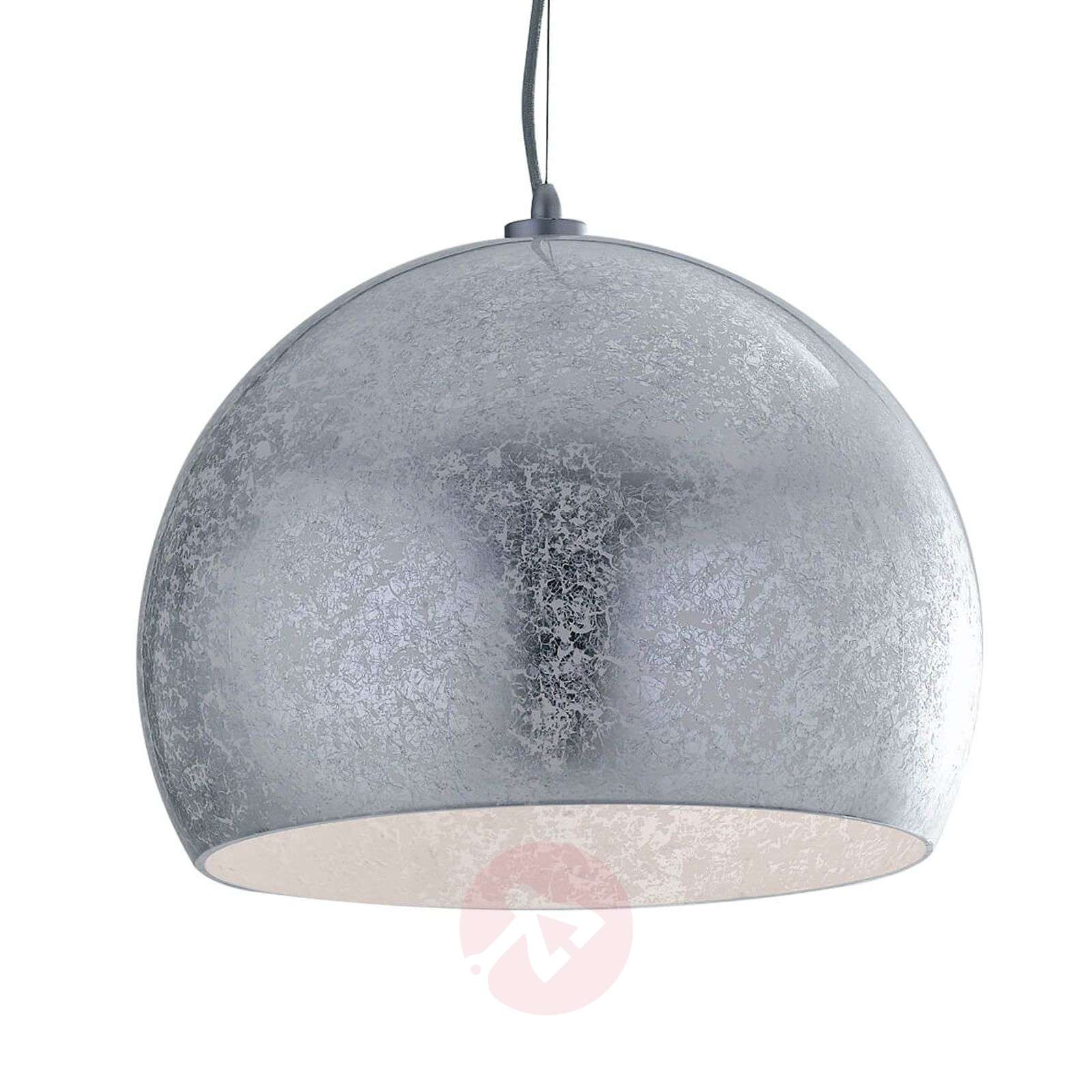 Extravagant Hanging Light Vanity, Glass Lampshade