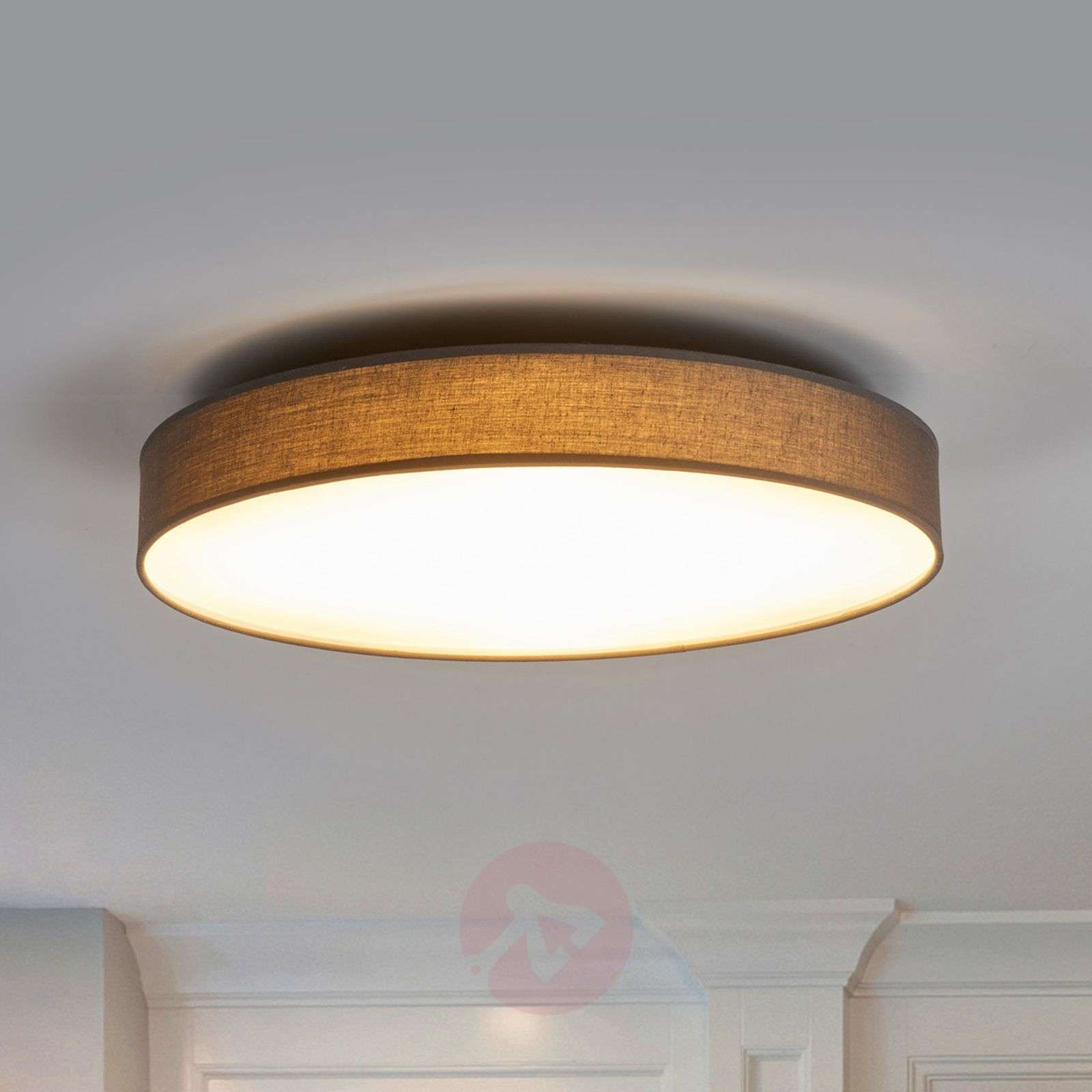 Fabric ceiling lamp saira in grey with leds lights fabric ceiling lamp saira in grey with leds 9625094 02 mozeypictures Choice Image