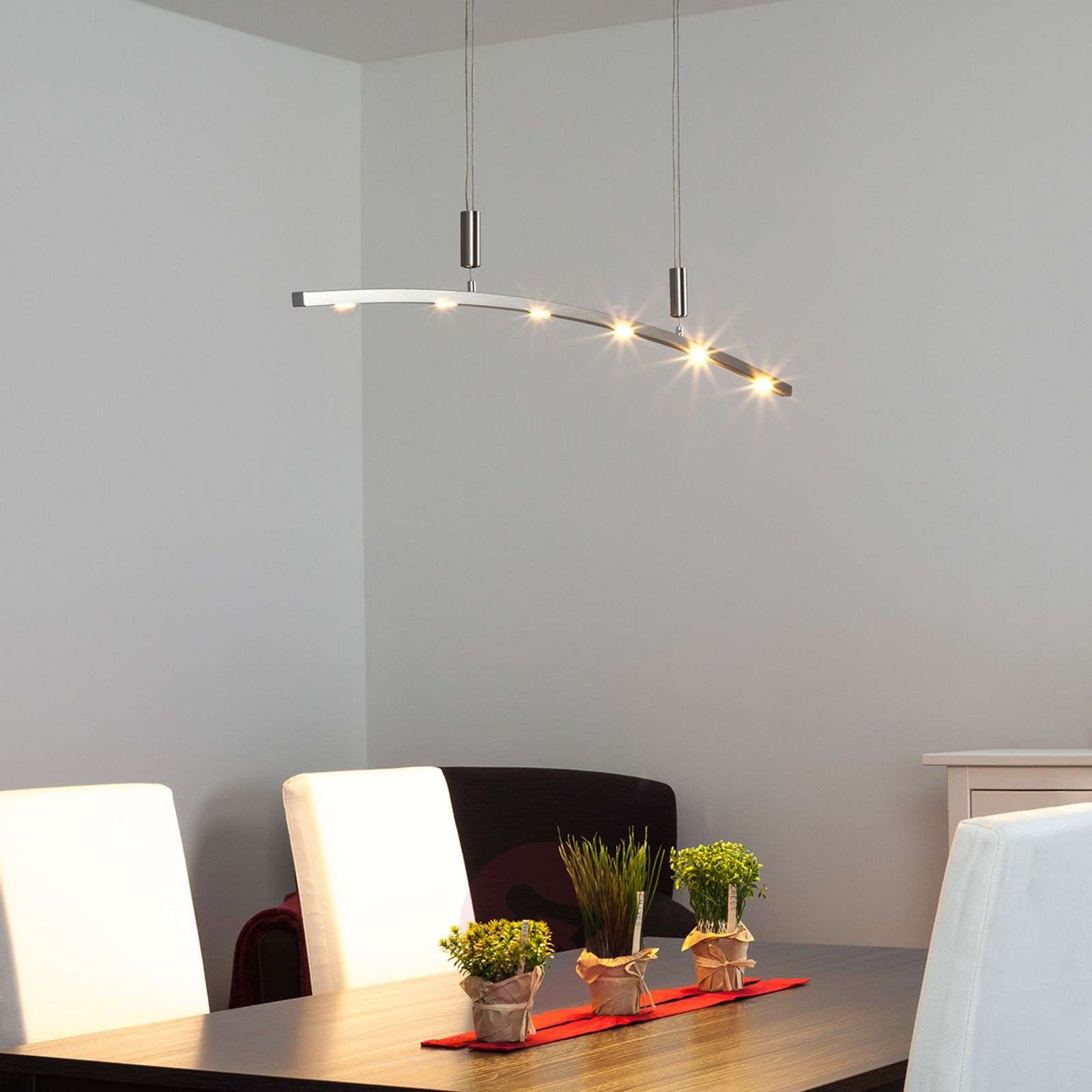 Falo Curved Led Pendant Lamp Height Adjustable Lights Co Uk