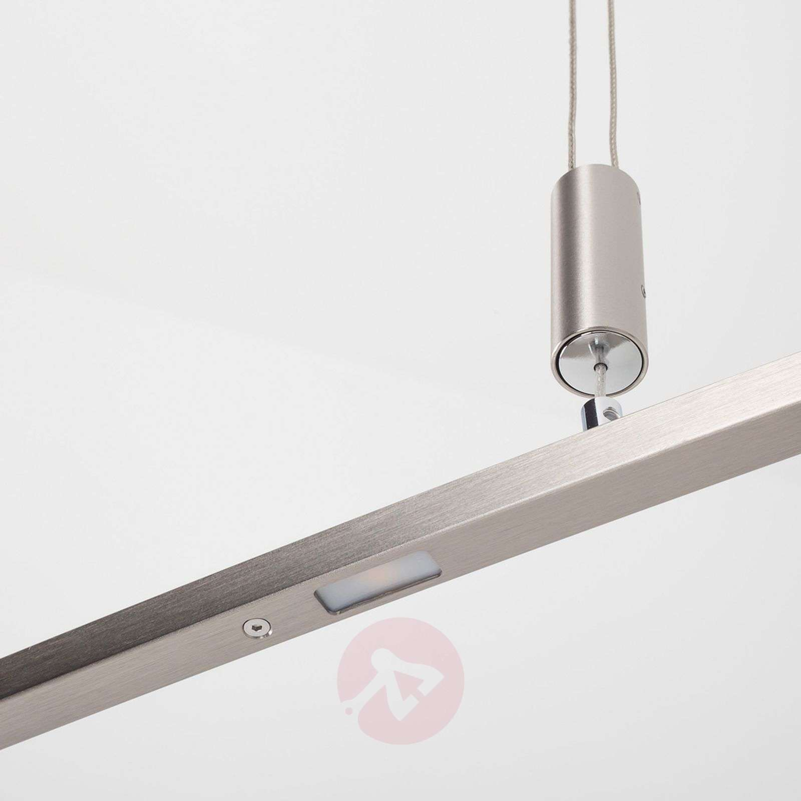 Height Adjustable Led Pendant Light Drop: Falo Curved LED Pendant Lamp, Height-adjustable