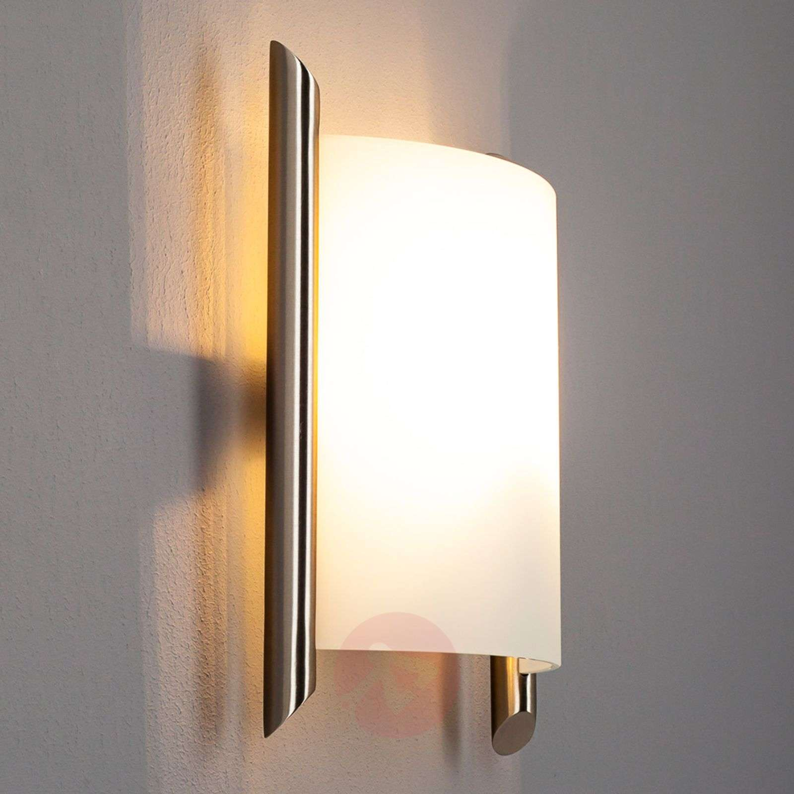 Filippa glass wall lamp satin finished nickel lights filippa glass wall lamp satin finished nickel 9633014 01 mozeypictures Image collections