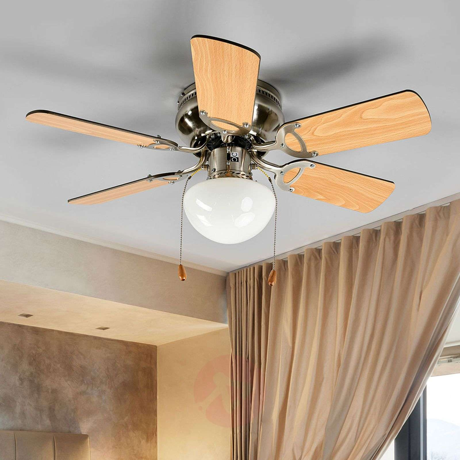 Flavio Six Blade Ceiling Fan With Light Lights Co Uk