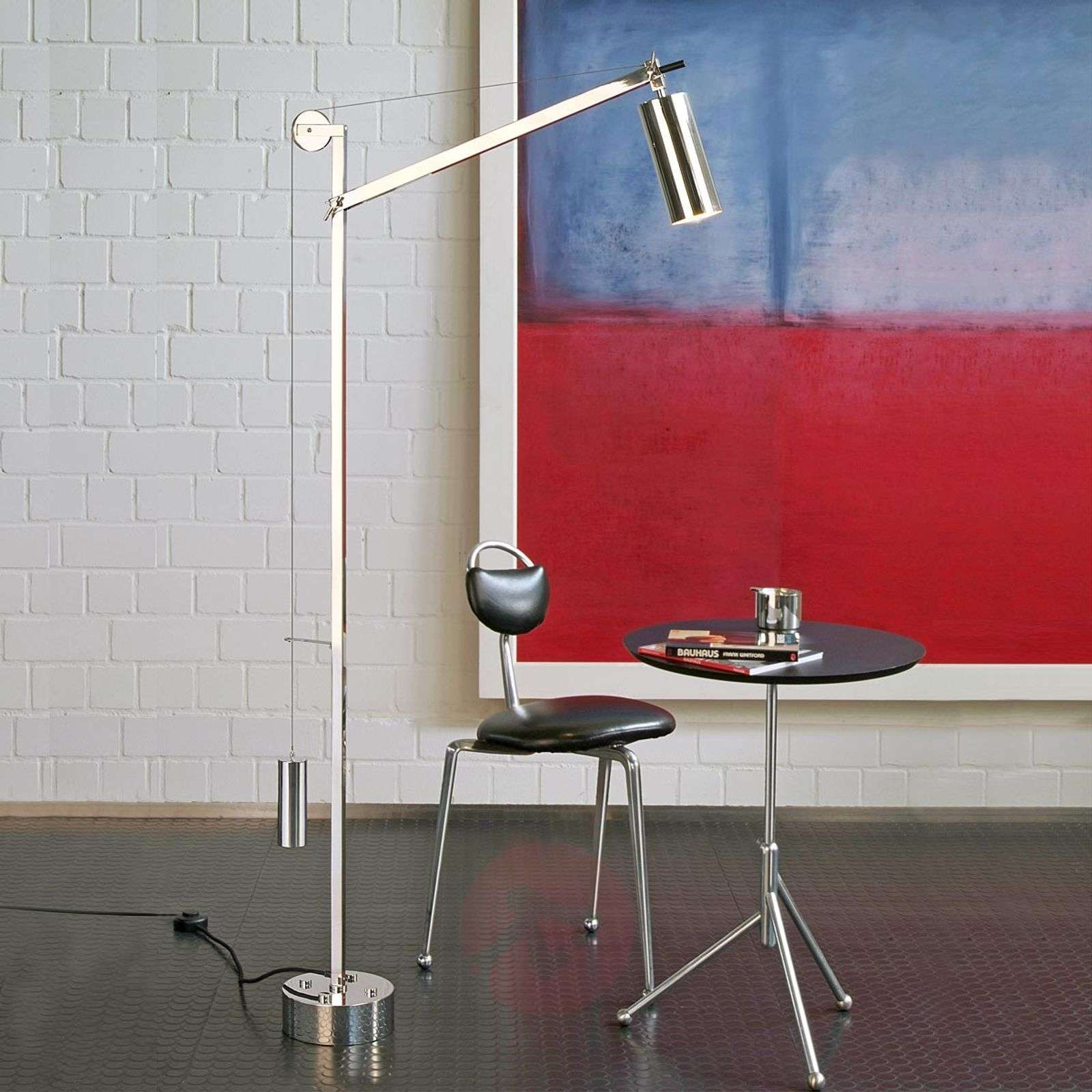 Floor lamp in the bauhaus style with counterweight lights floor lamp in the bauhaus style with counterweight 9030016 01 aloadofball