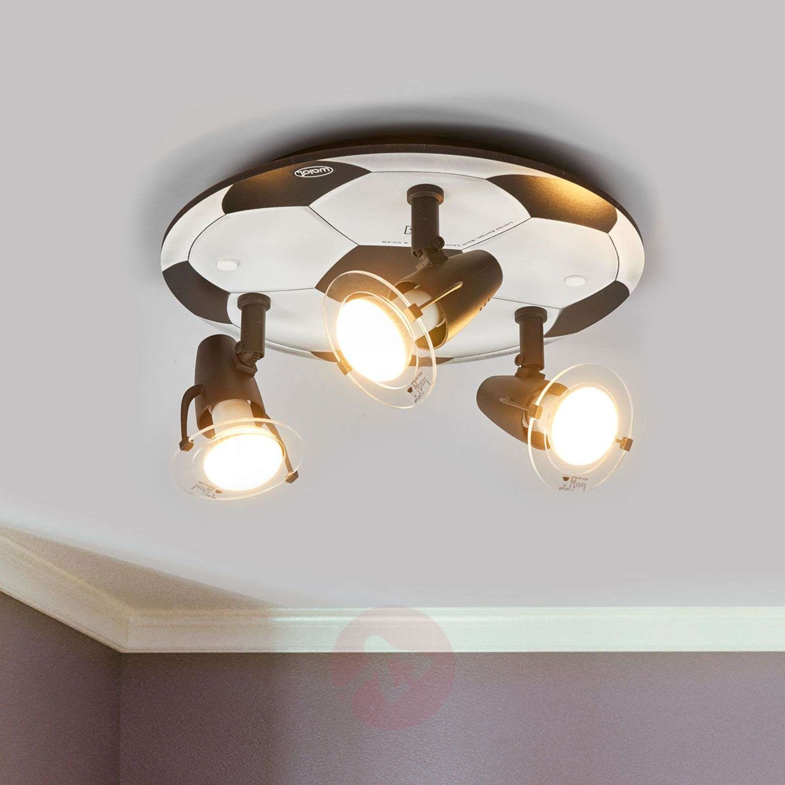 football ceiling light with 3 bulbs. Black Bedroom Furniture Sets. Home Design Ideas