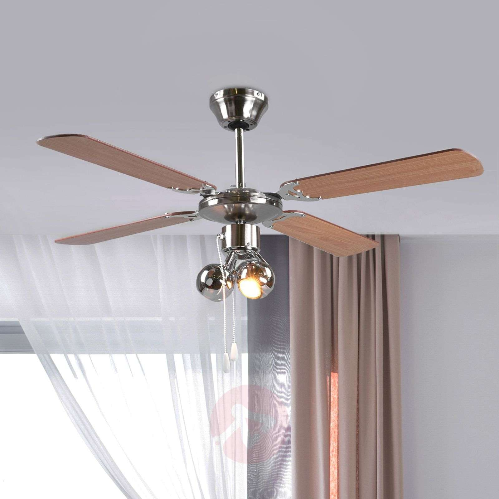Beau Four Blade Ceiling Fan Gunda, With Light