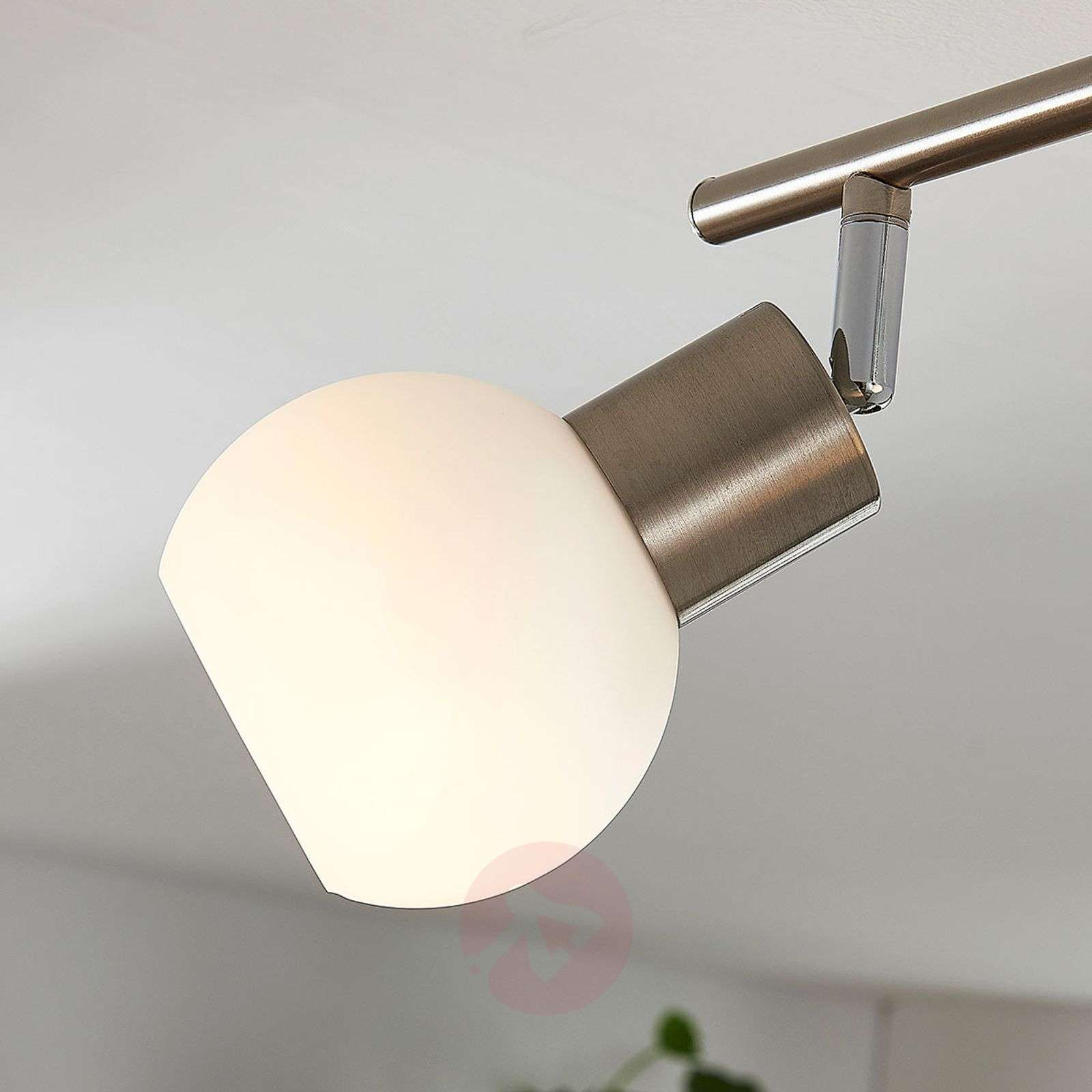 Four Bulb Led Ceiling Light Elaina Nickel Matte
