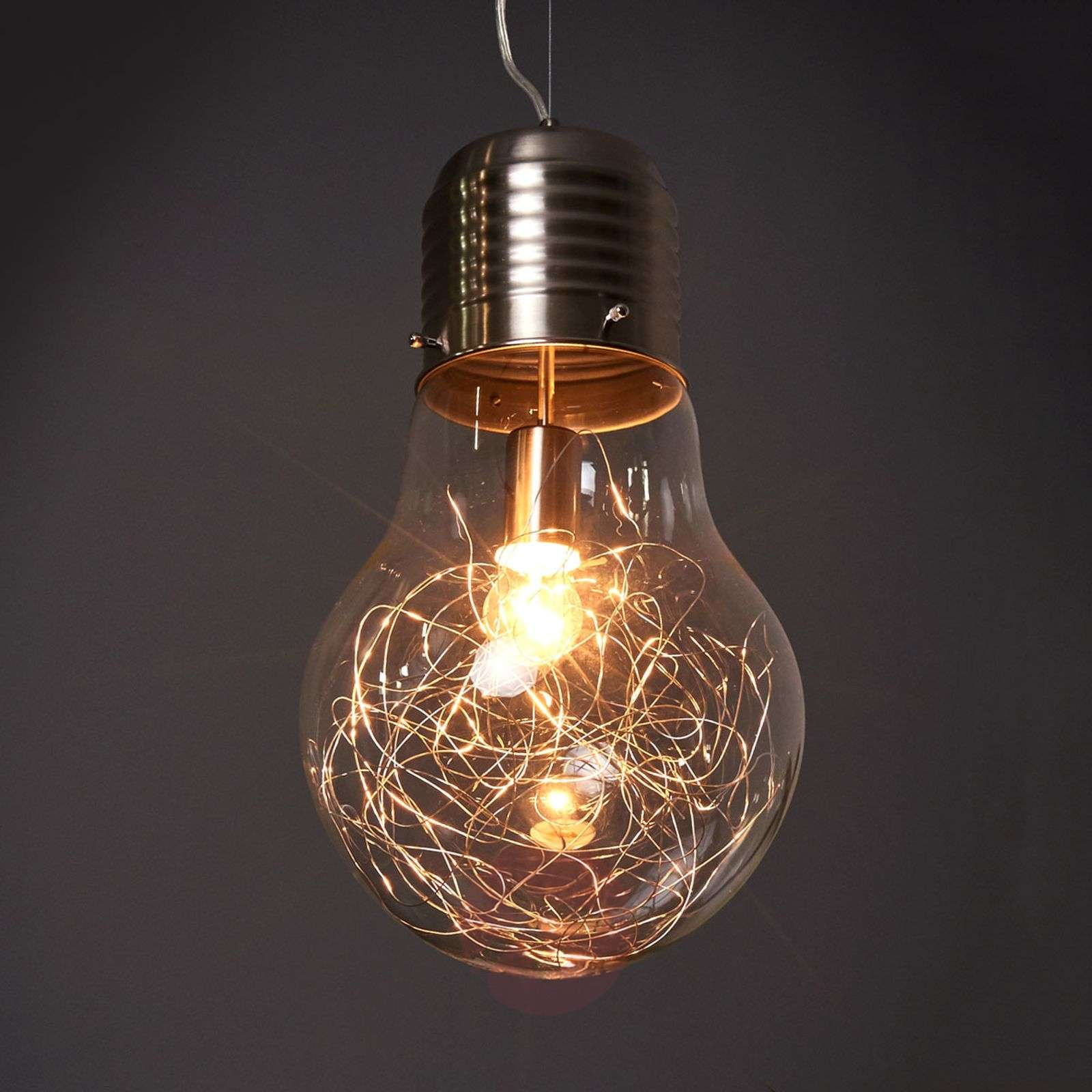 incandescent brass pendant finish shade edison brown glass en hanging product bulb included light vintage antique