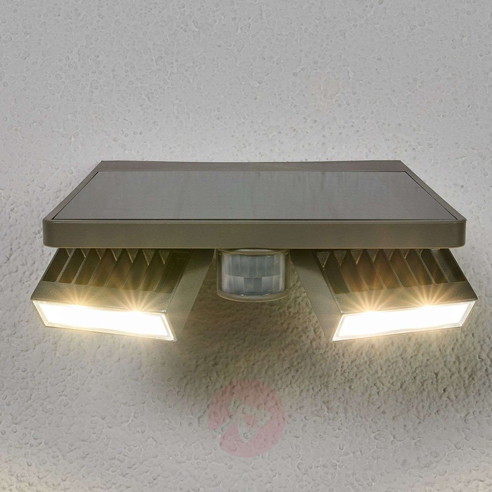 ghost solar led exterior wall light with md lights co uk