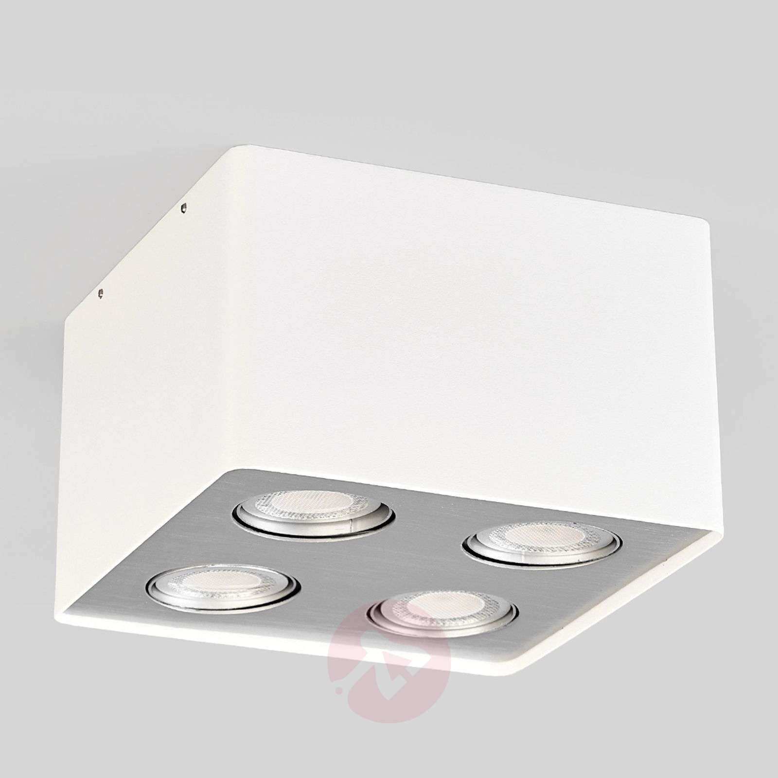 Giliano LED kitchen ceiling light in white 4 fl