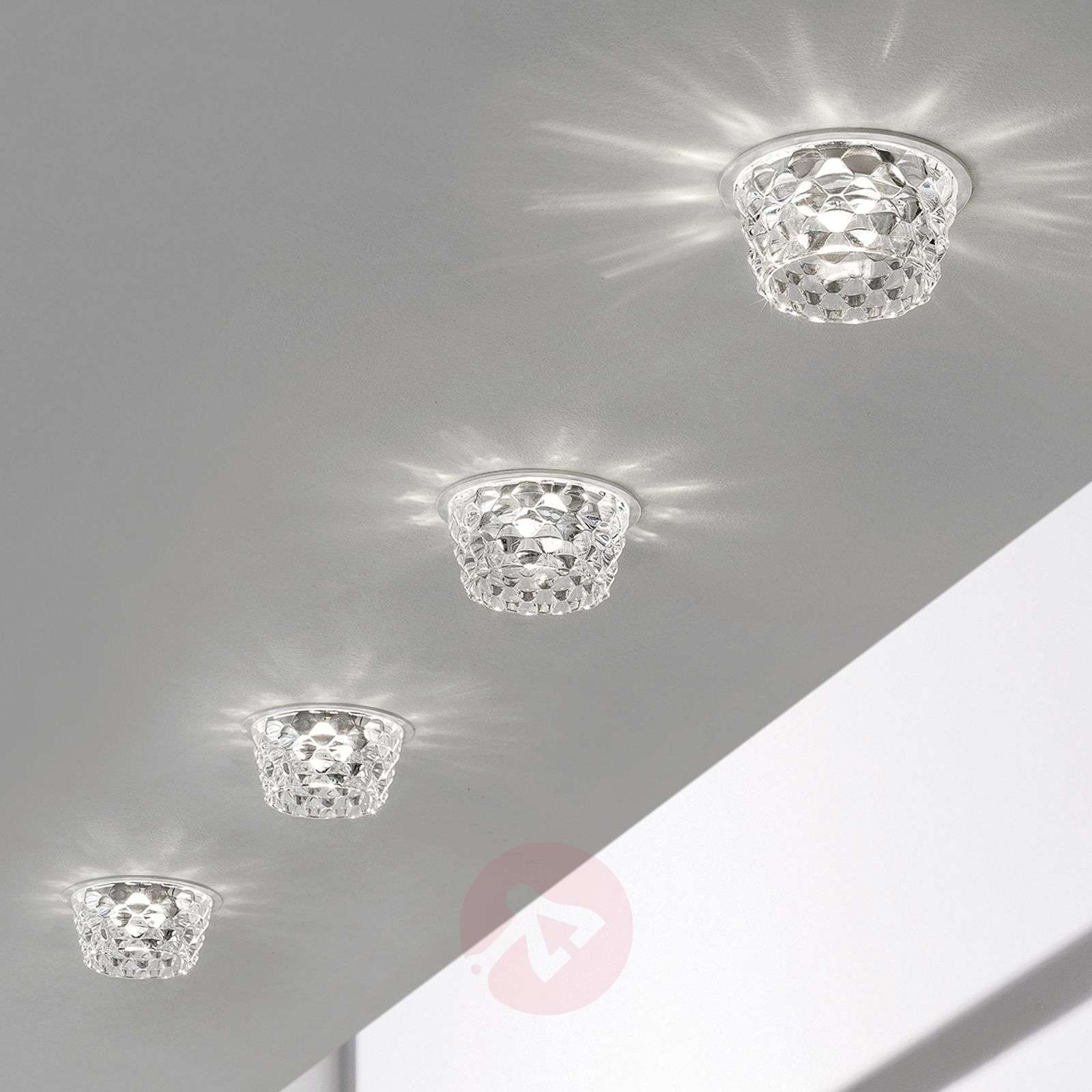 Glass led recessed ceiling light fedora clear lights glass led recessed ceiling light fedora clear 1088114 01 aloadofball Images