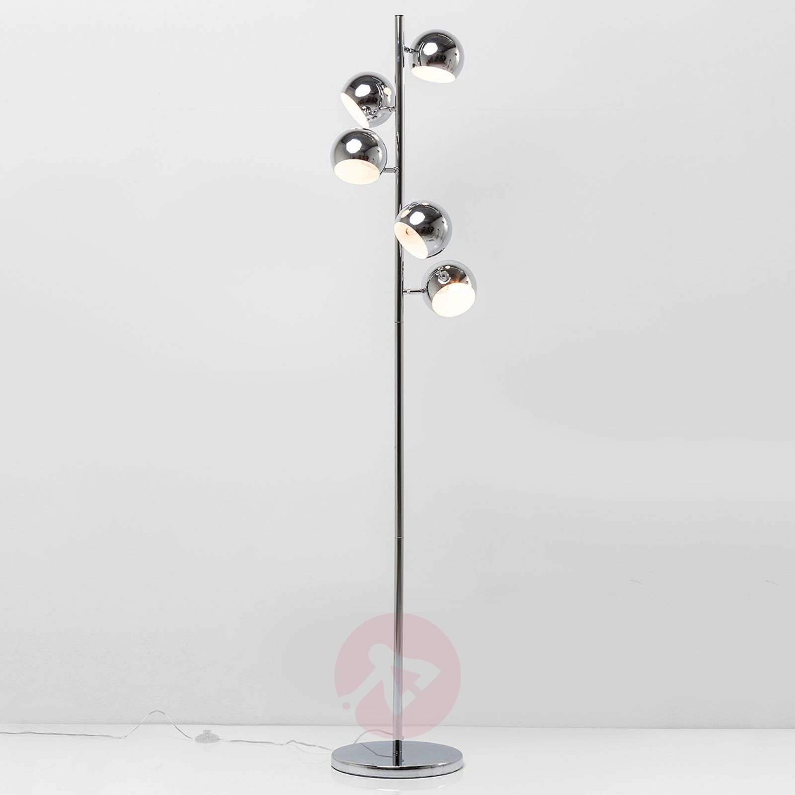 lamp german century chrome for adjustable pamono mid floor floors at sale