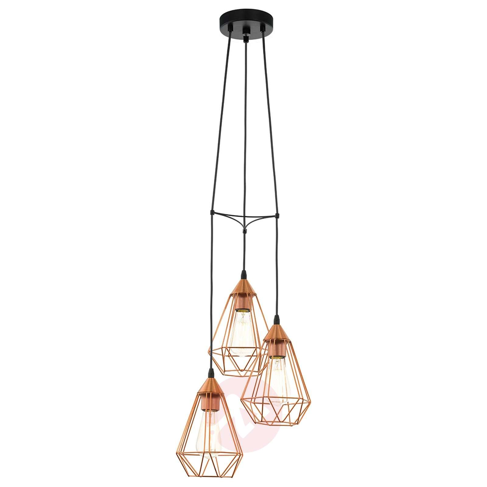 Glossy Copper Hanging Light Tarbes