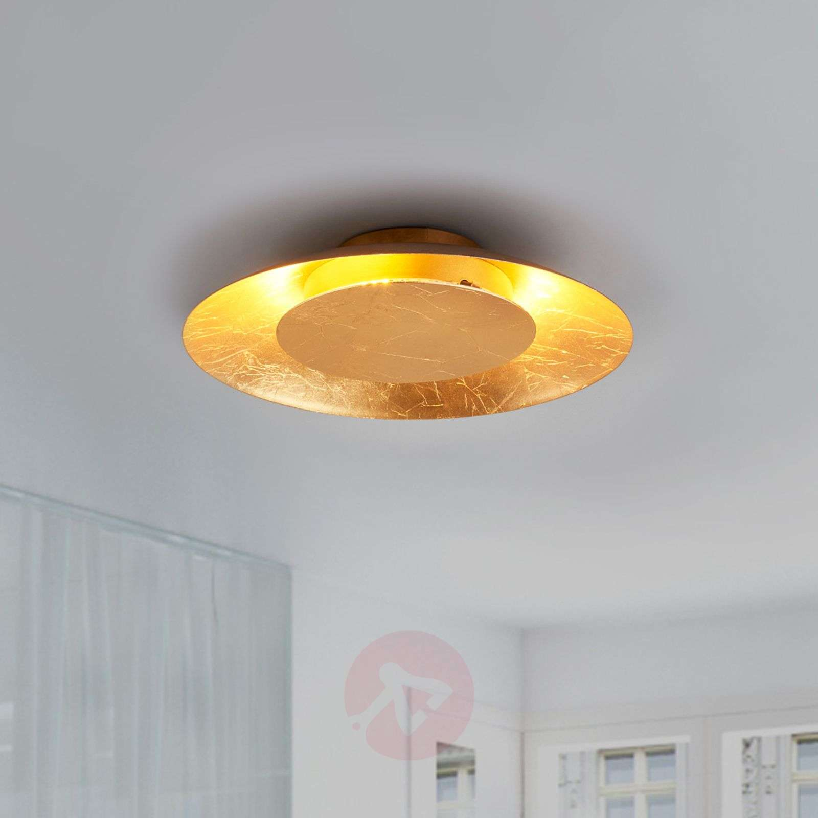 Gold coloured led ceiling light keti lights gold coloured led ceiling light keti 9625046 01 aloadofball Image collections