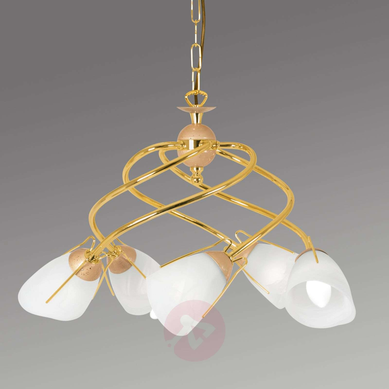 Gold coloured pendant light rondo lights gold coloured pendant light rondo 6089045 01 aloadofball Images