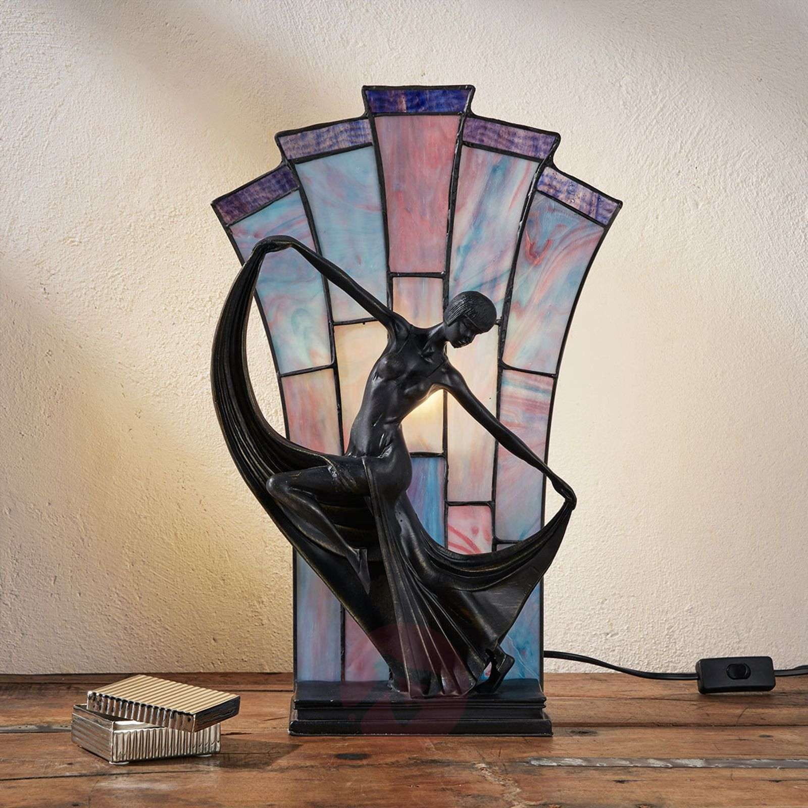 Graceful table lamp Flamina, Tiffany style-1032282-01