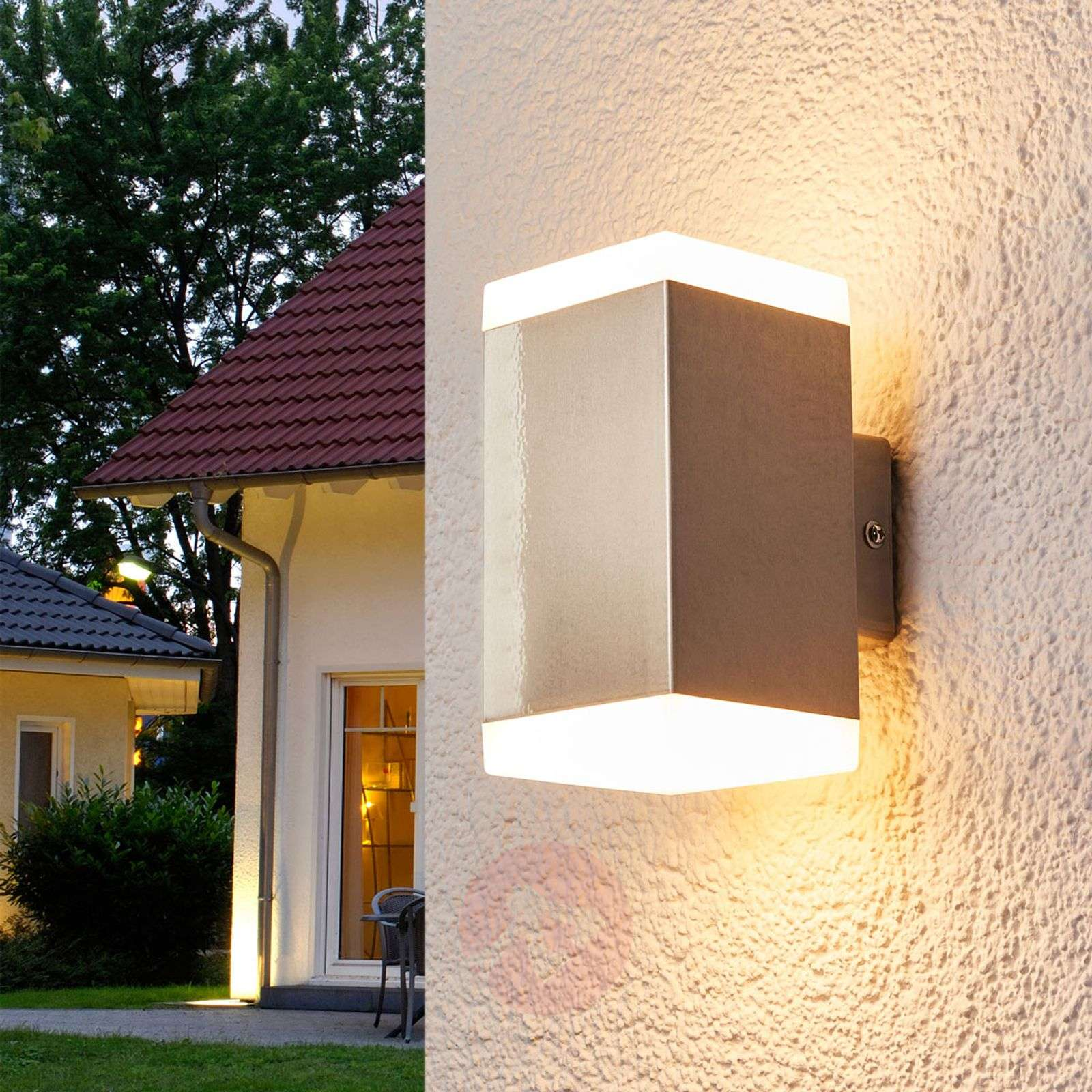 hedda modern stainless steel led outdoor wall lamp lights co uk