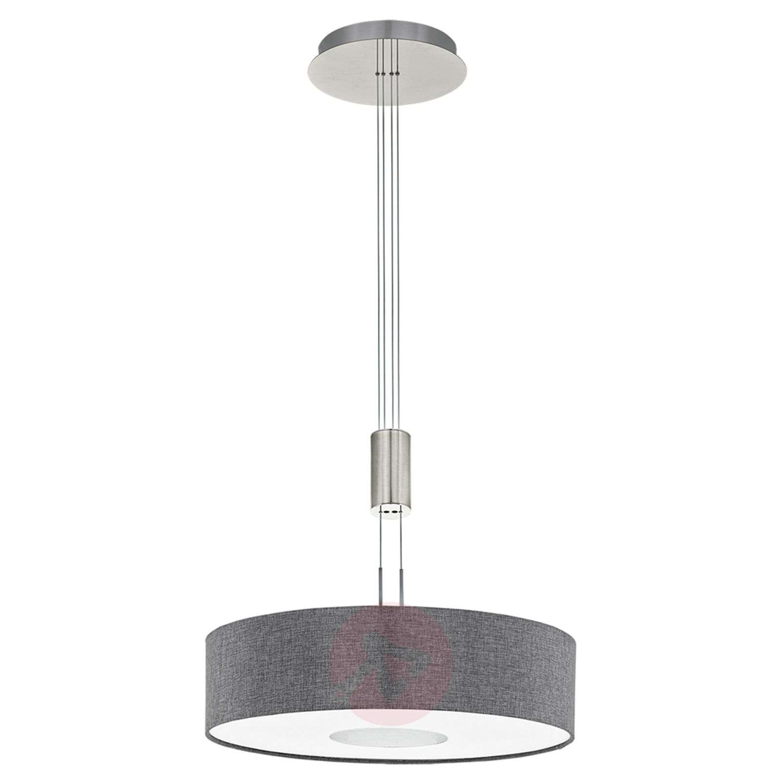 Height adjustable fabric led pendant light romano