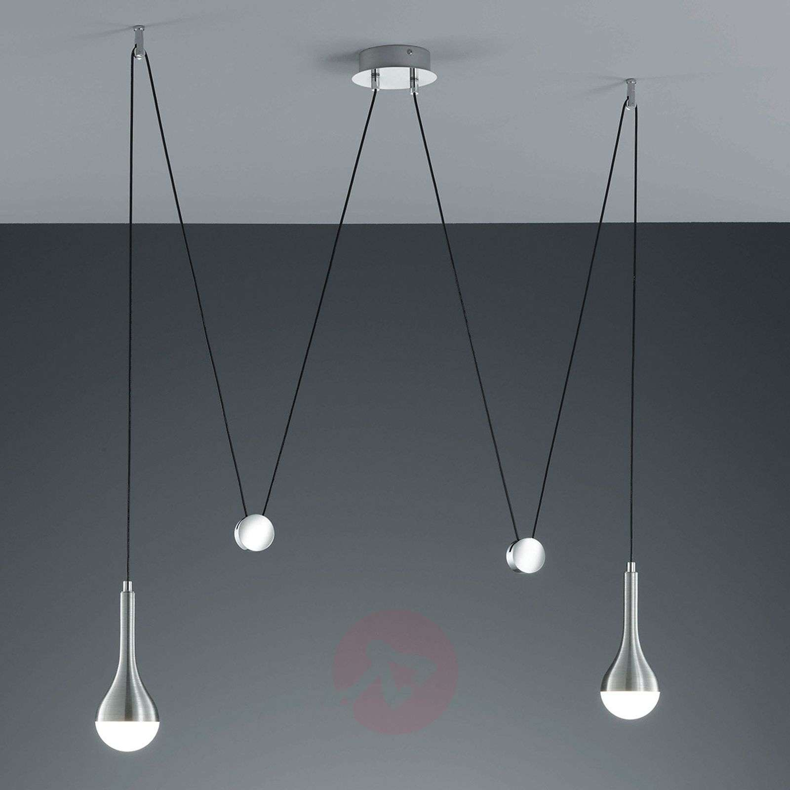 Height adjustable led pendant light drop