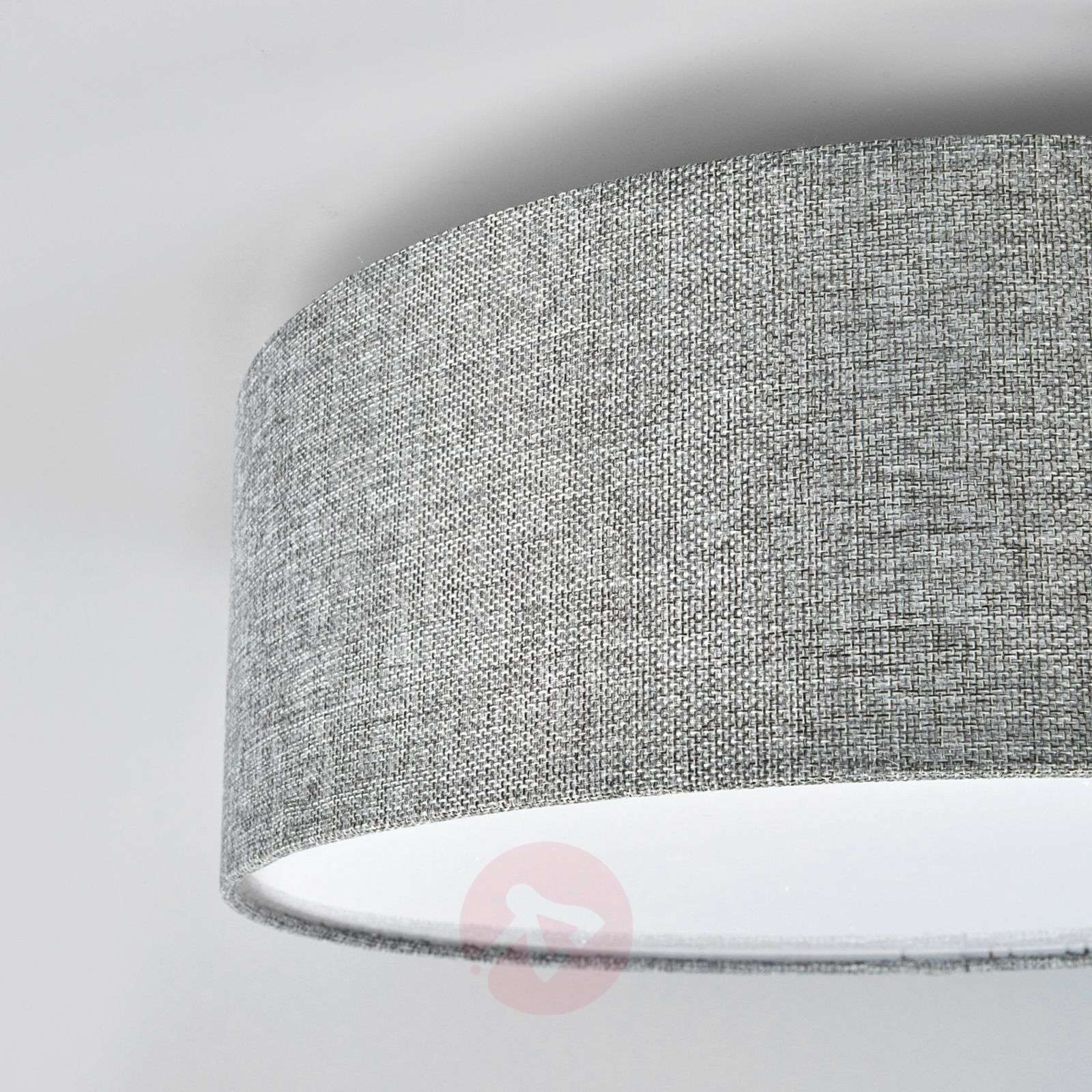 Henrika ceiling light made from grey fabric