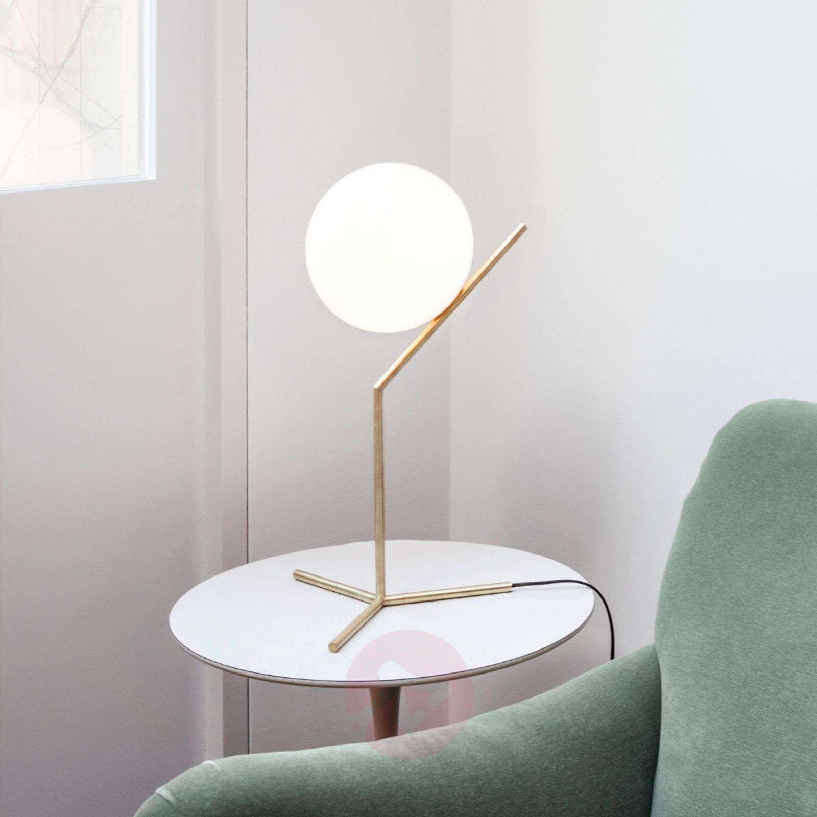 IC T1 - Table Lamp by FLOS, Brushed Brass | Lights.co.uk