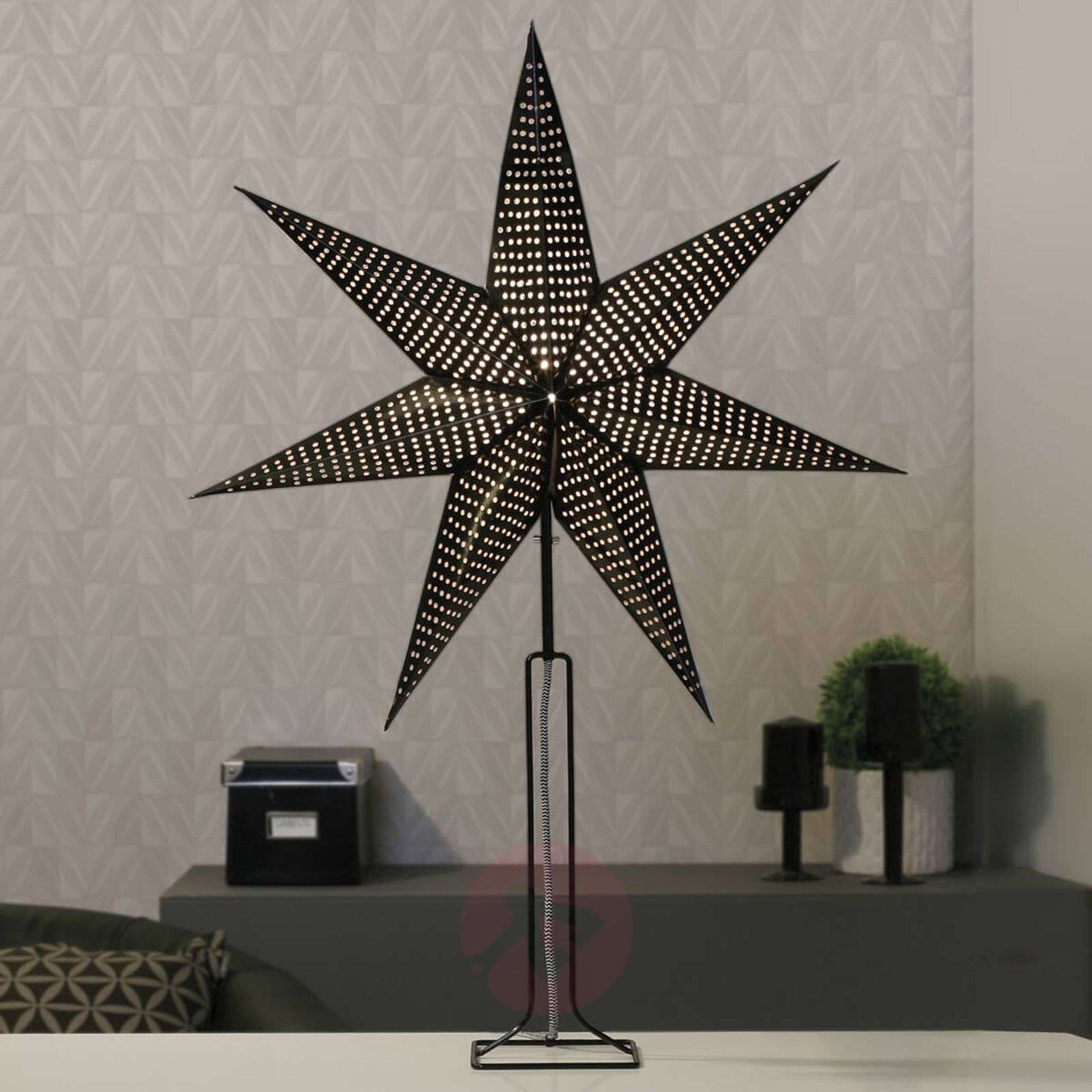 In black paper star Huss with metal base 85 cm-1523261-01