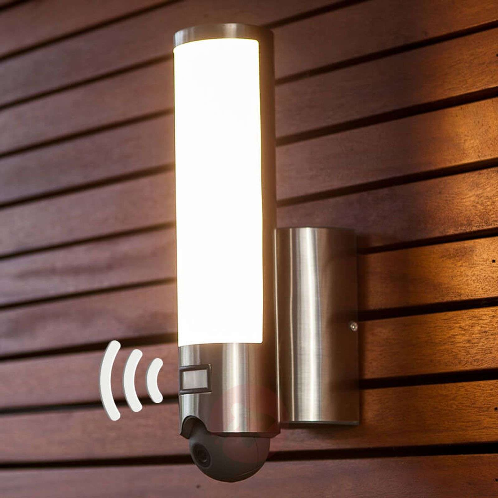 Integrated Camera Led Outdoor Wall Lamp Elara Cam Lights
