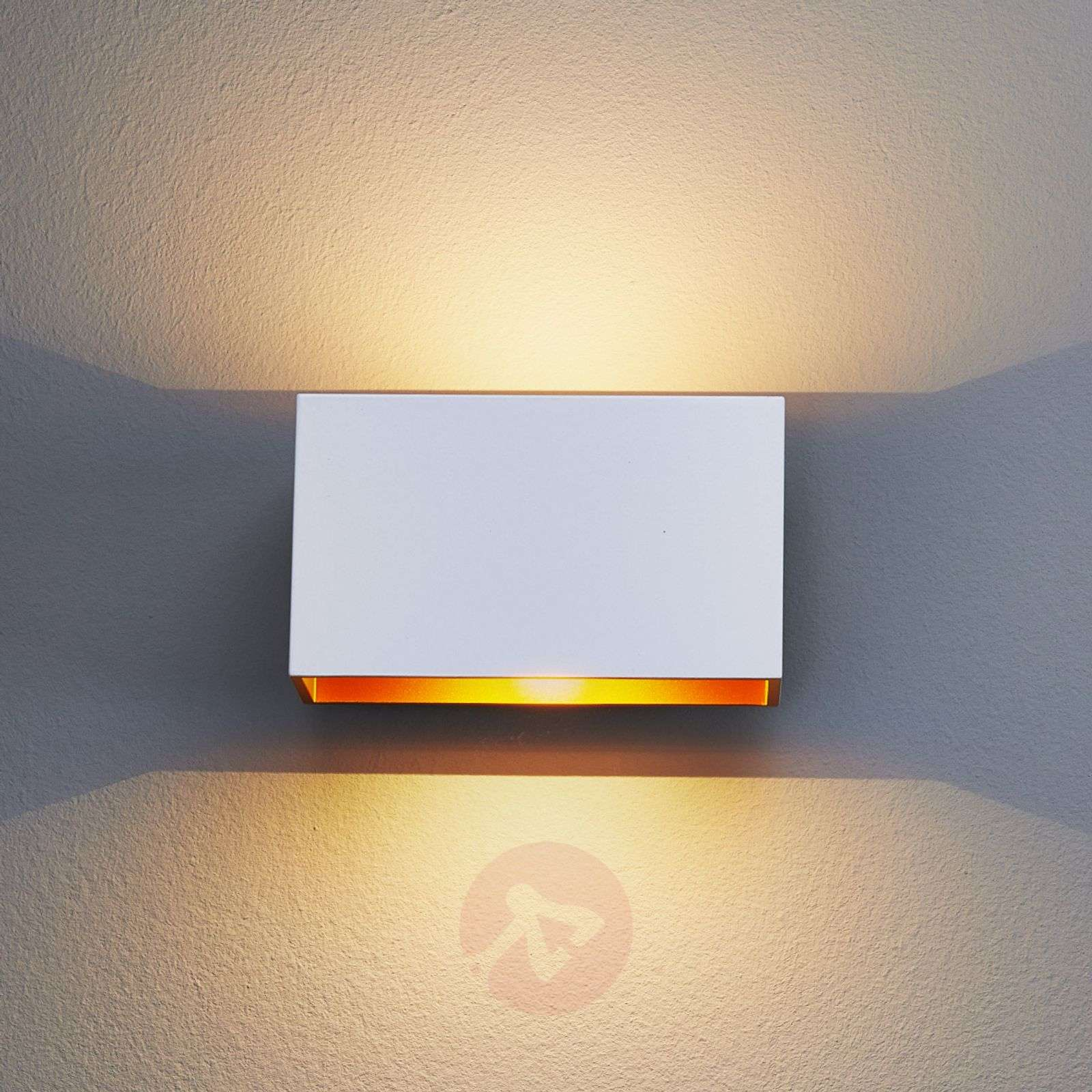Jessy LED Wall Light White / Gold Lights.co.uk