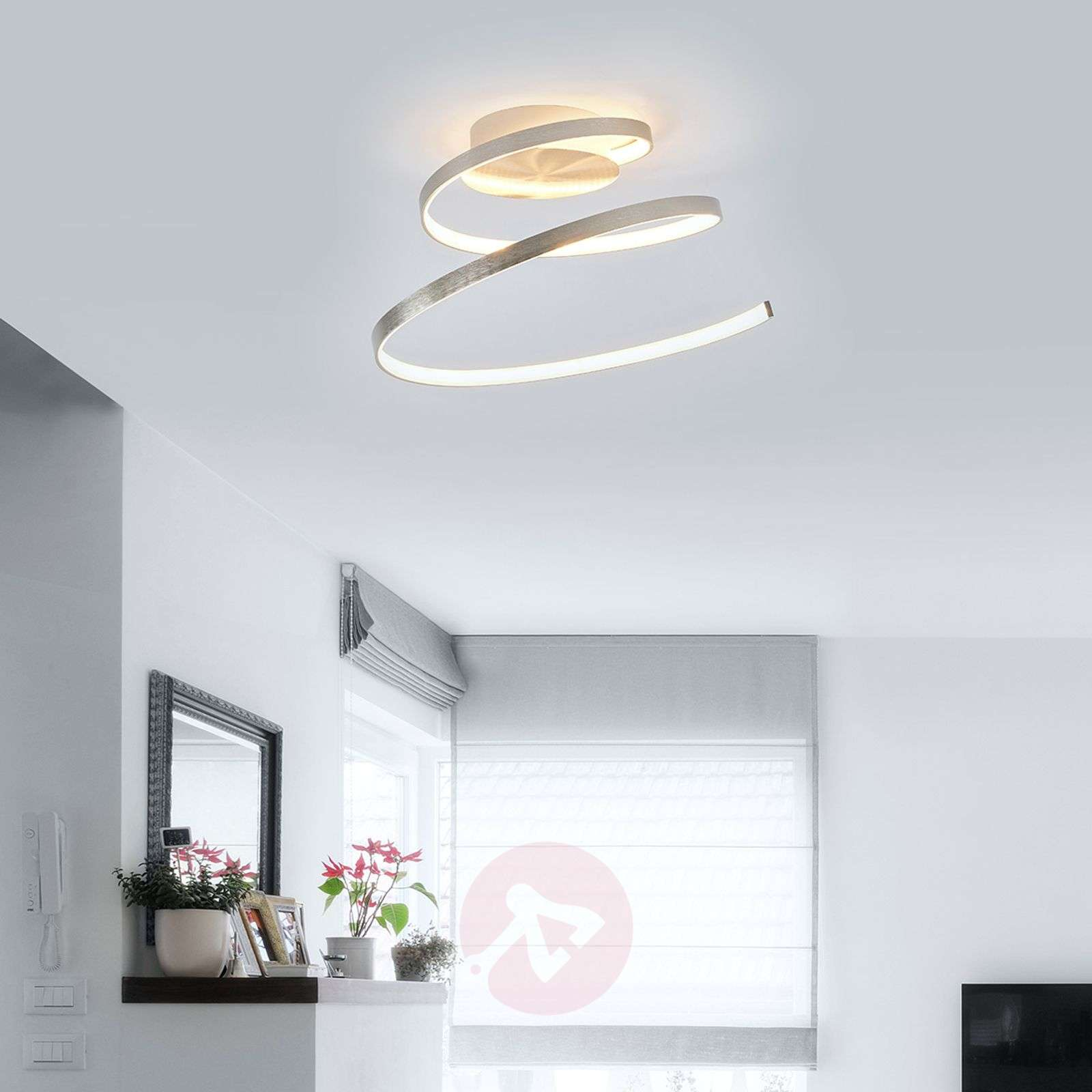 Junus spiral shaped led ceiling light lights junus spiral shaped led ceiling light 9985038 01 aloadofball Choice Image