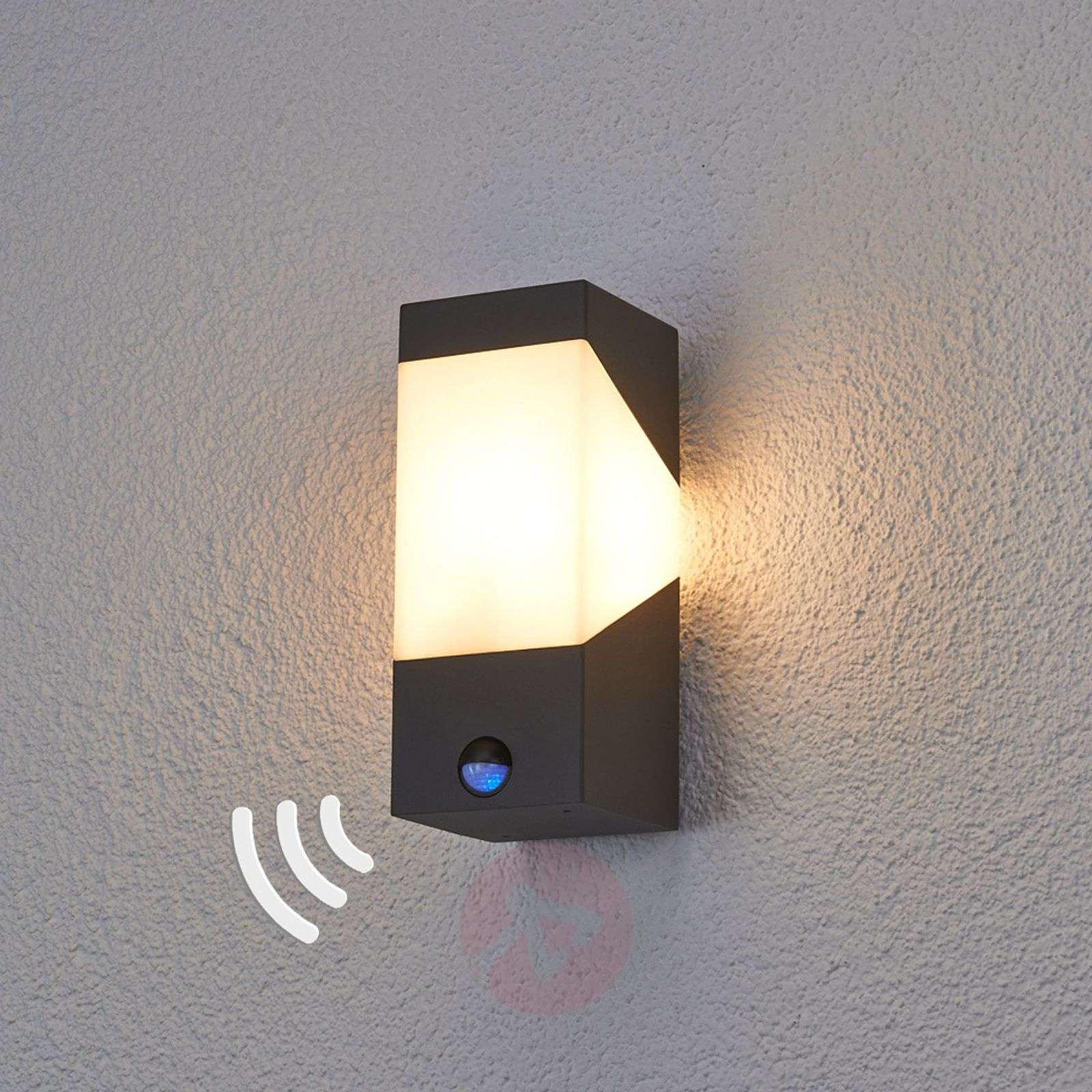 Kiran Exterior LED Wall Lamp with Motion Detector Lights.co.uk