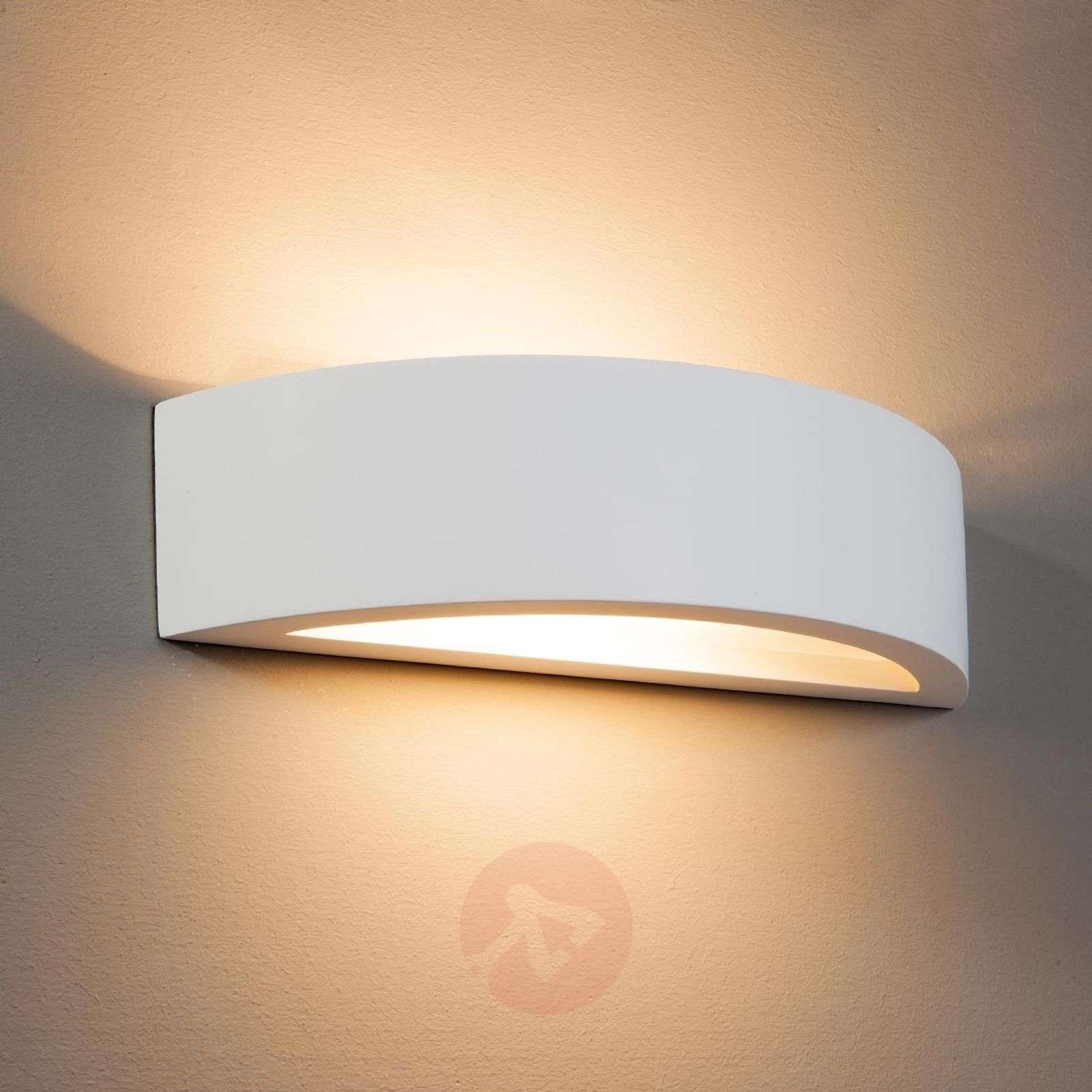 Curved Plaster Wall Lights : Konstantin Wall Light Curved Plaster White Lights.co.uk