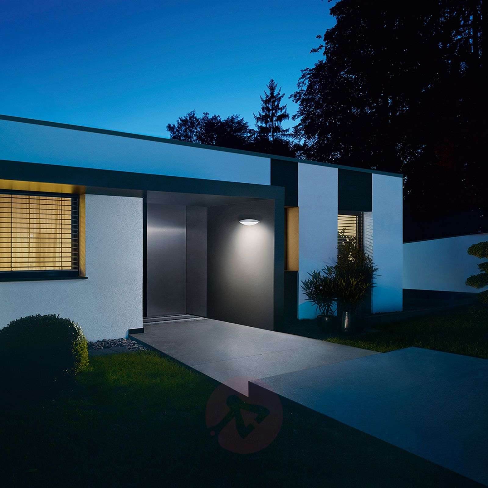 Anthracite Garden Wall Lights : L825 LED iHF outdoor wall light, sensor anthracite Lights.co.uk