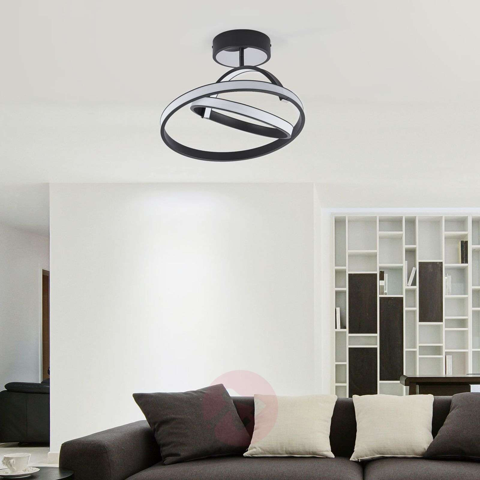 ... Largo Futuristic LED Ceiling Light In Black 6089012 01 ... Part 70