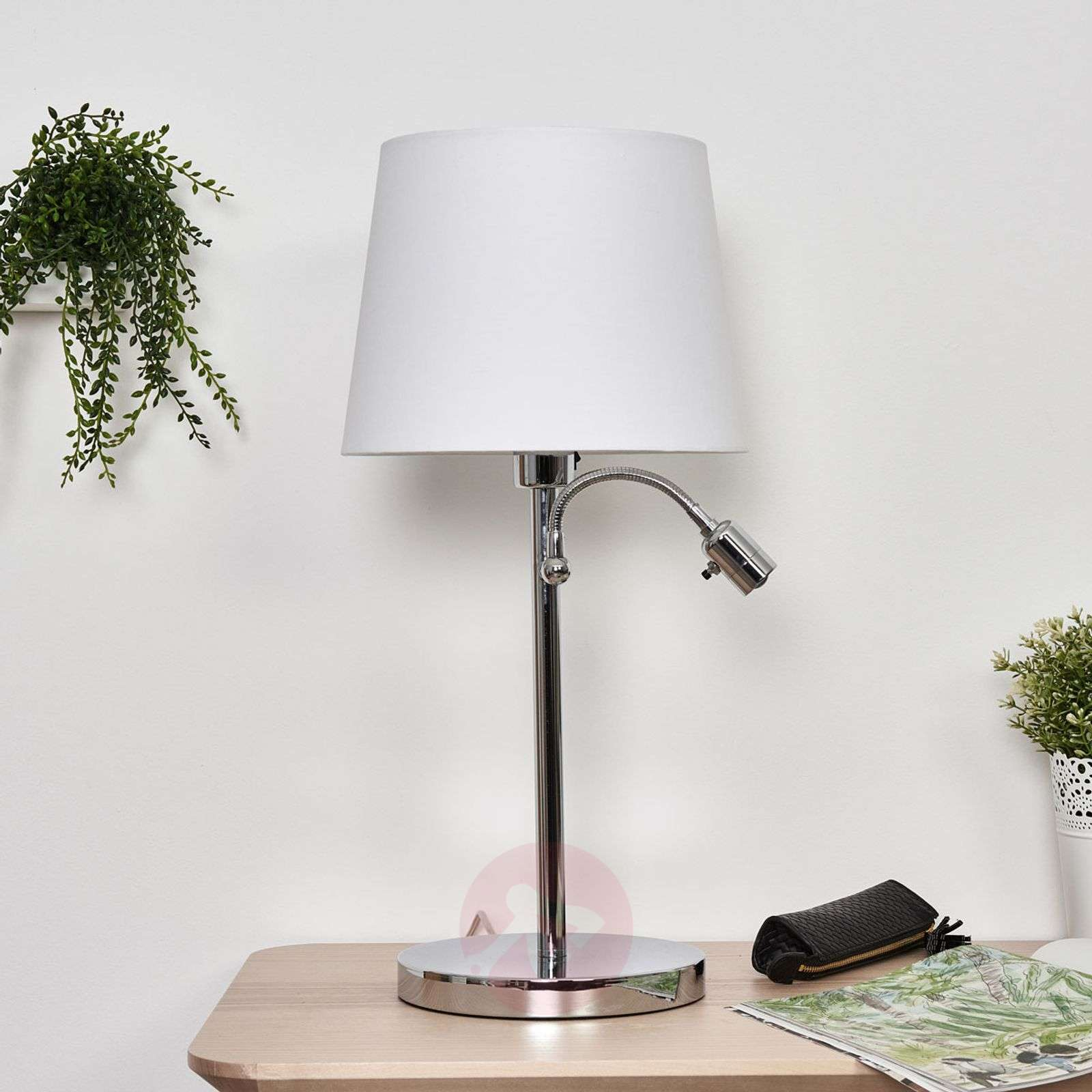 Lavo table lamp with led reading light lights lavo table lamp with led reading light 4580680 01 aloadofball Gallery