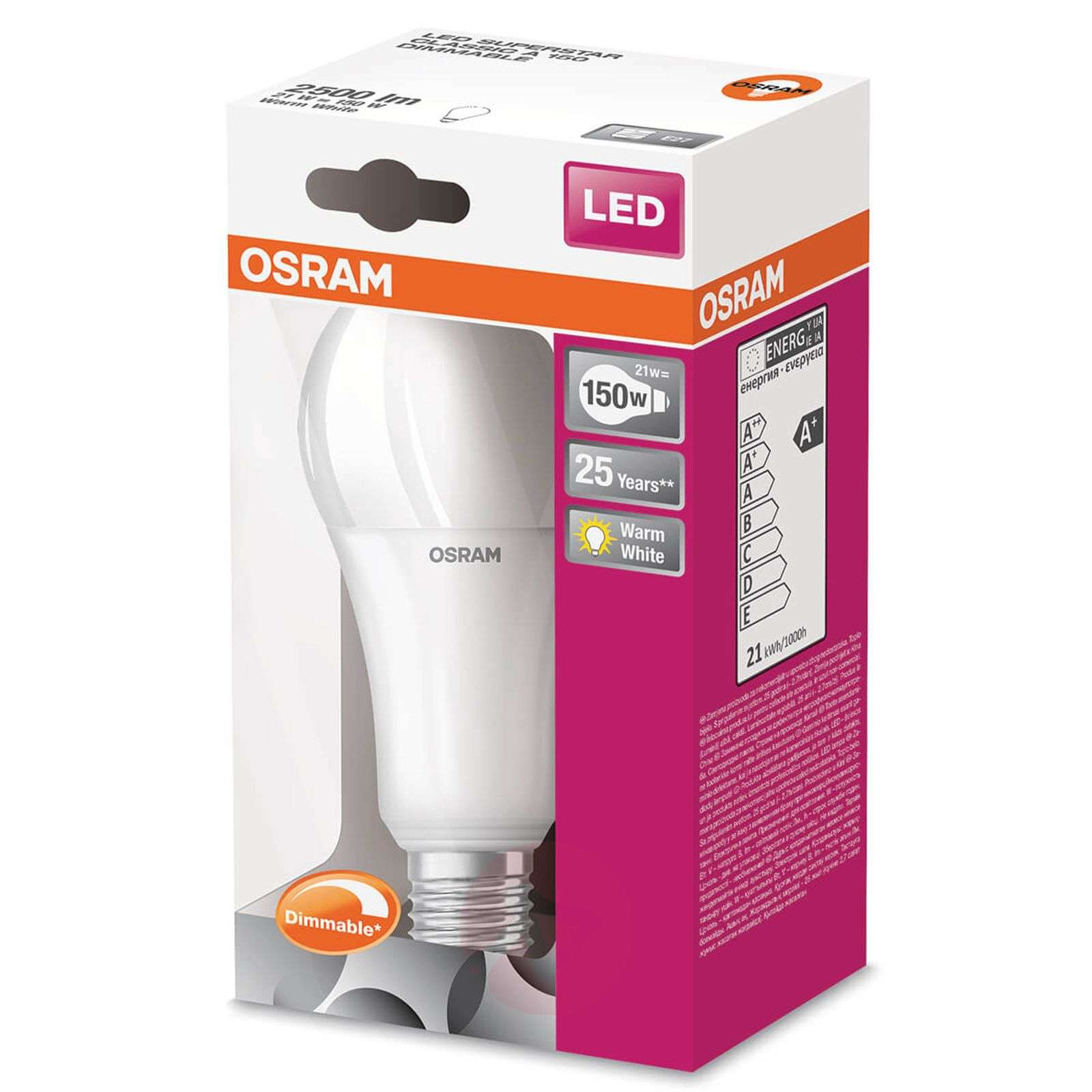 Lumens 2 White E27 Led 21w Warm Dimmable Bulb 500 dhxtrsQC