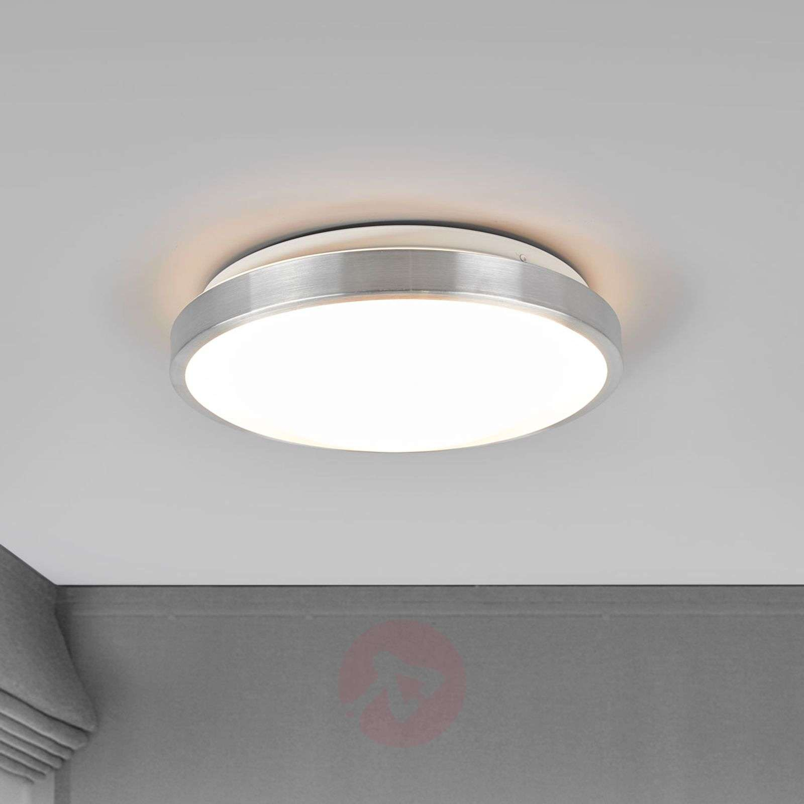 LED ceiling light Jasmin, aluminium-coloured frame | Lights.co.uk