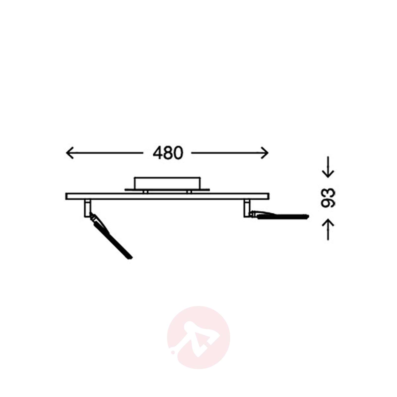 Led Ceiling Light Quadra Dimmable Two Bulb Wiring Diagram 1510302 01