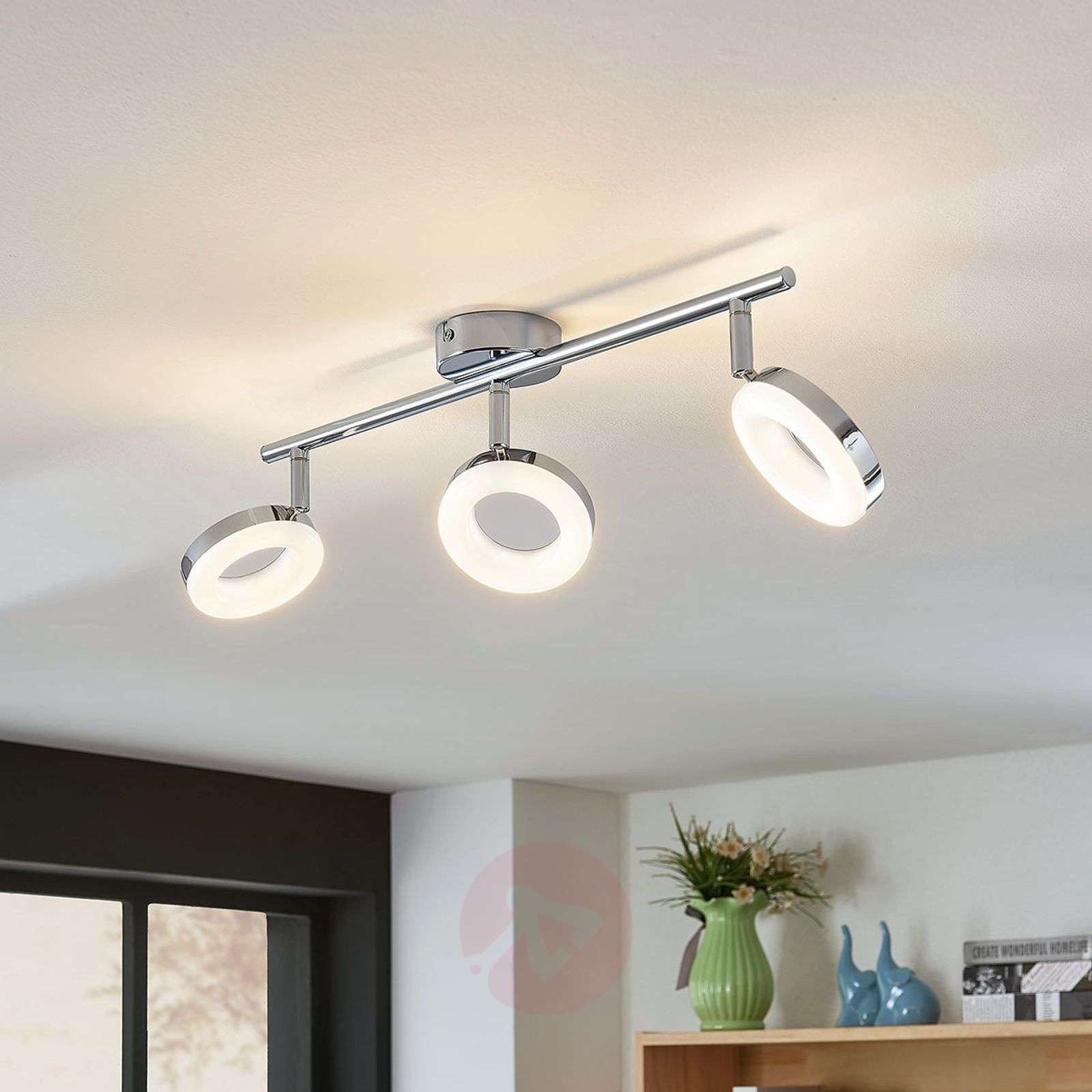 Led ceiling light ringo 3 bulb long