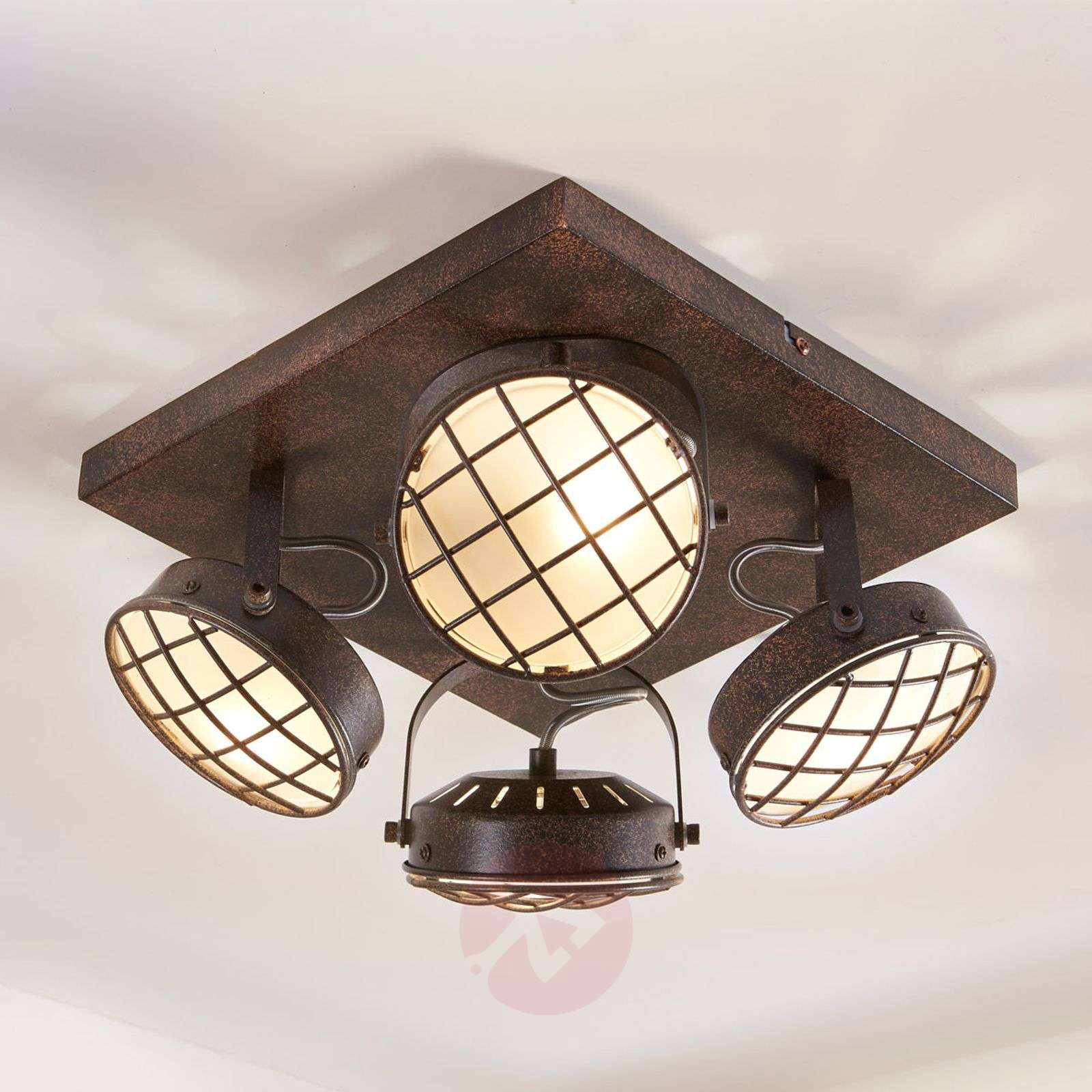 LED Kitchen Ceiling Light Tamin, Rusty Brown