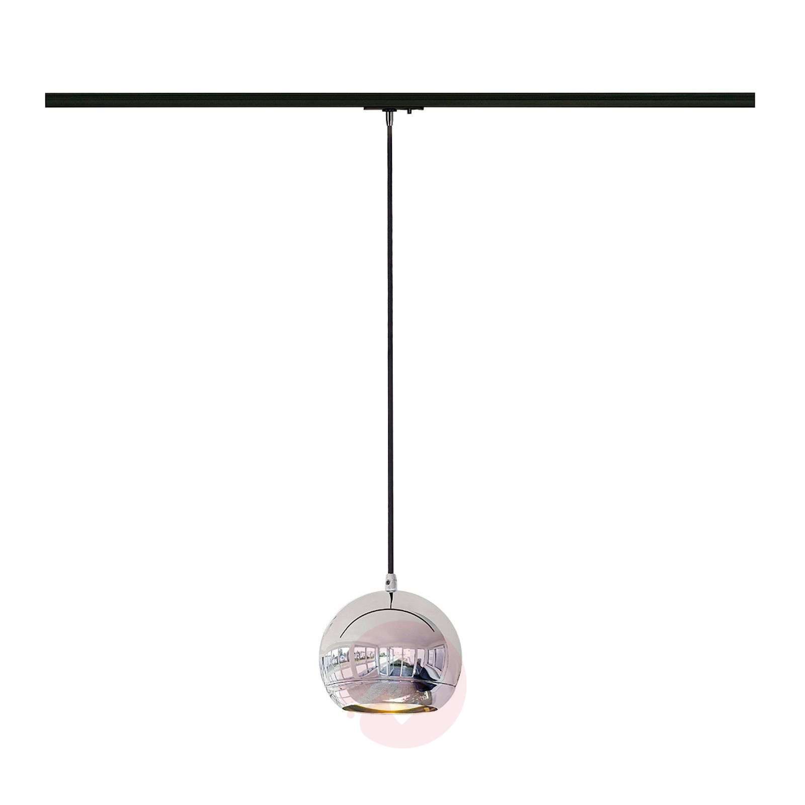Chrome And Black Track Lighting: Light Eye Chrome Pendant Light For Track Lighting