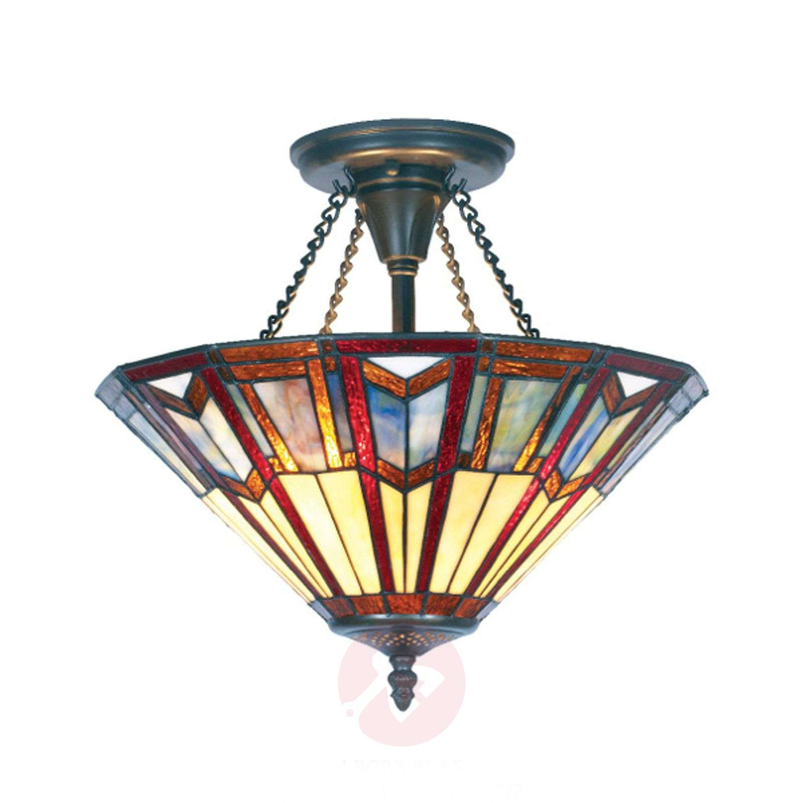 LILLIE Tiffany-style ceiling light-1032190-01
