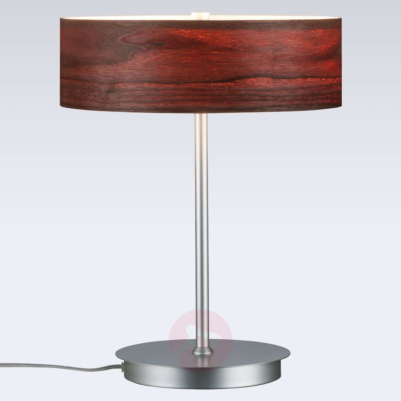 Liska chic table lamp with wooden lampshade lights liska chic table lamp with wooden lampshade 7601064 01 aloadofball Image collections