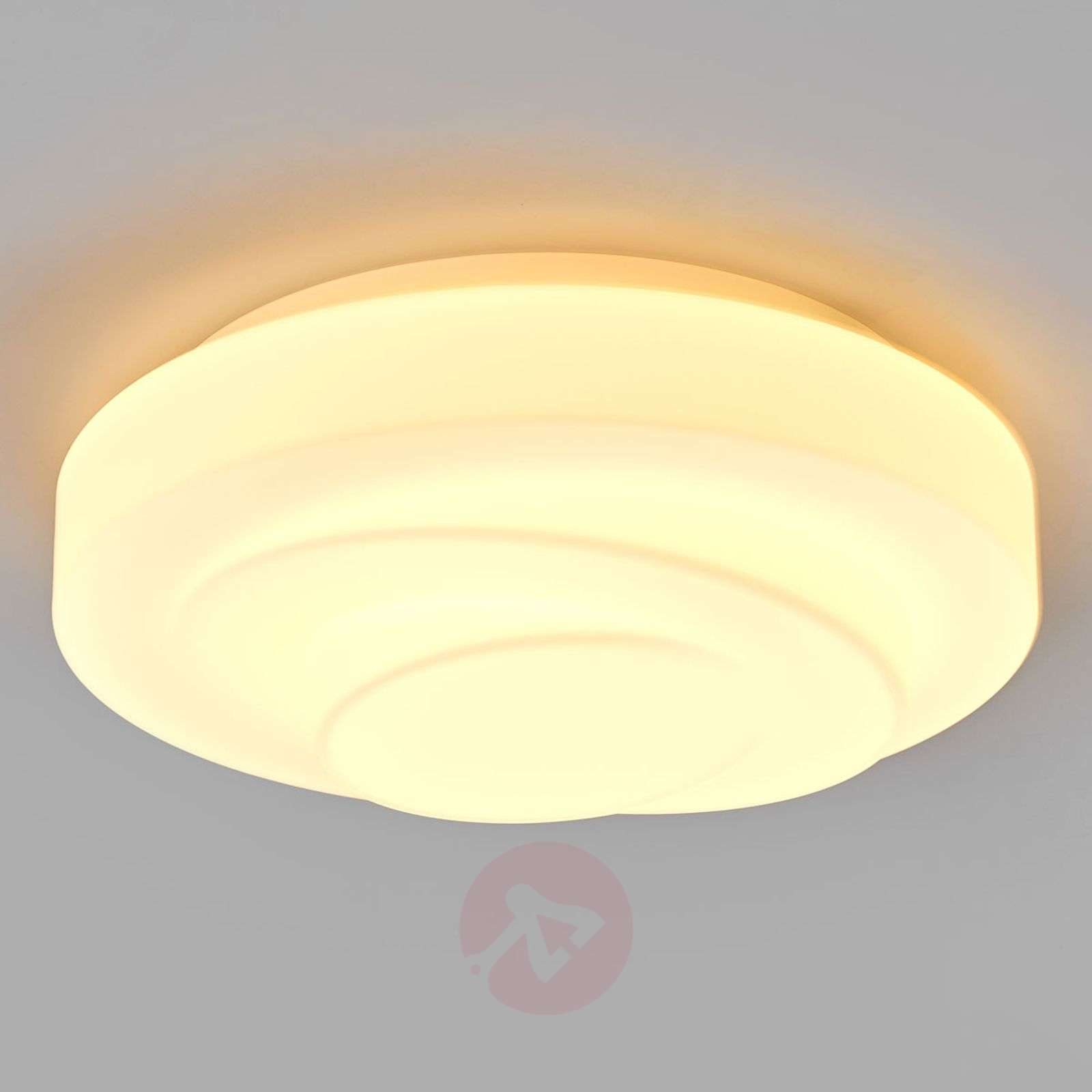 Loop Line Led Ceiling Light Made Of Blown Glass