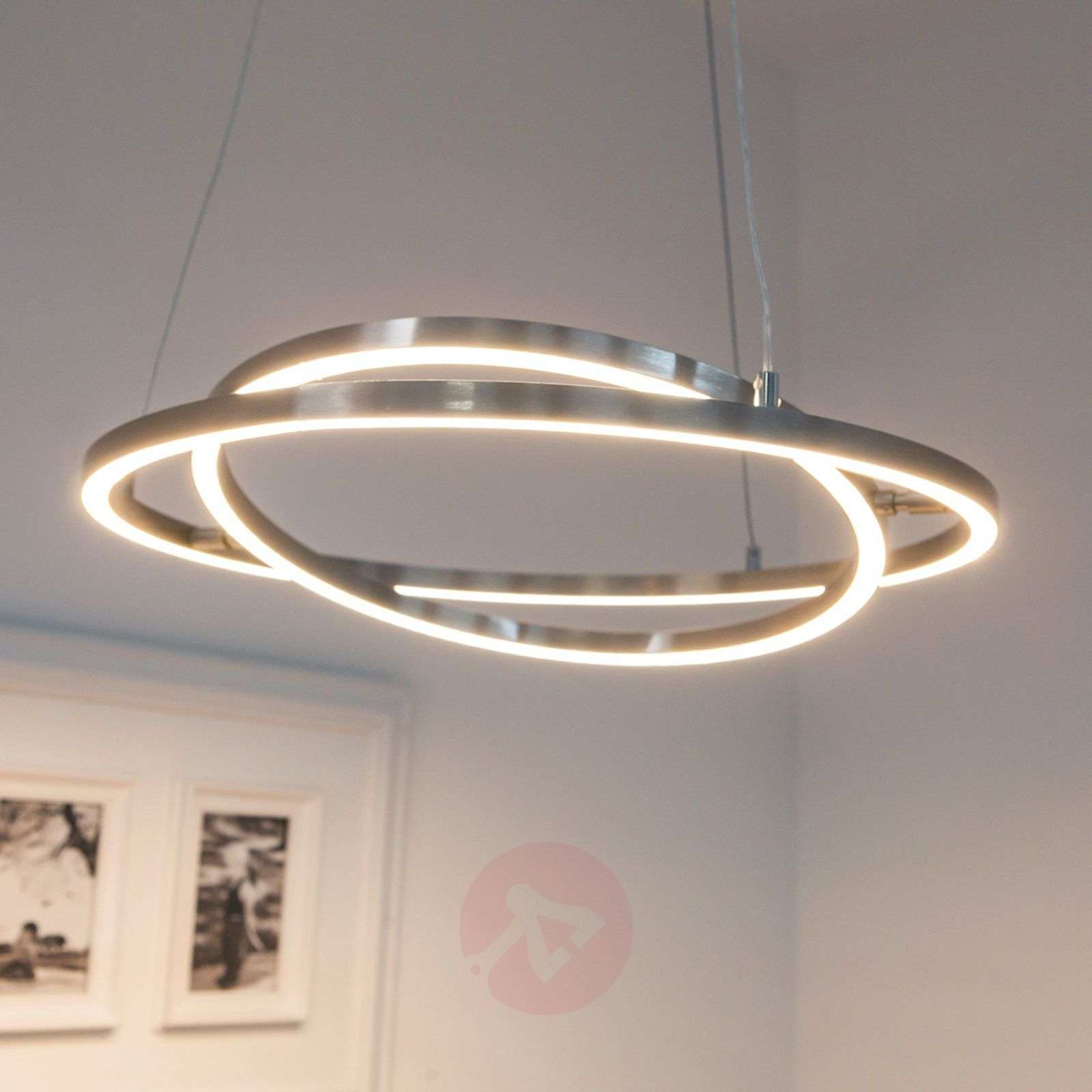 lovisa led hanging light with two led rings. Black Bedroom Furniture Sets. Home Design Ideas