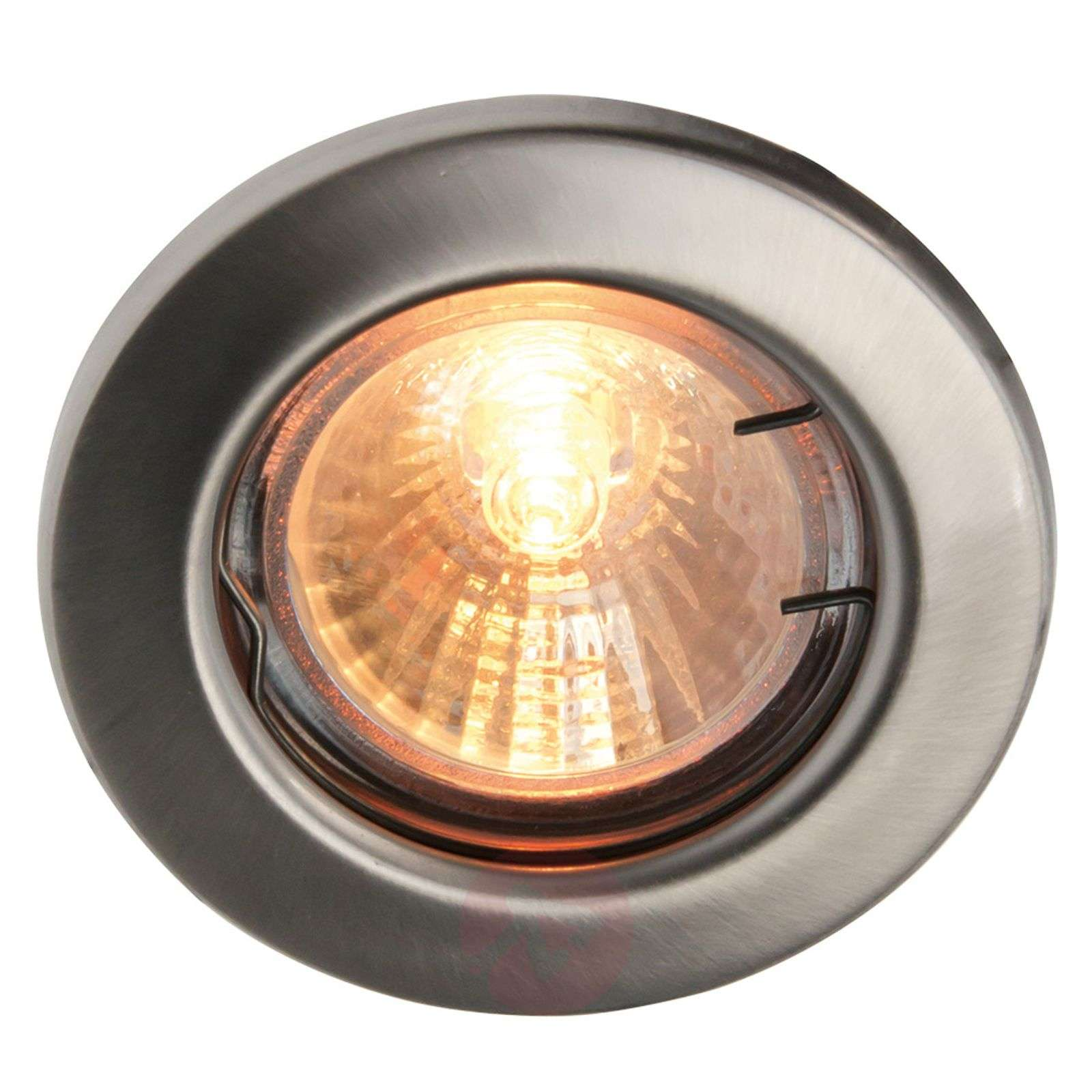 Low-voltage recessed light stainless steel MR16   Lights.co.uk