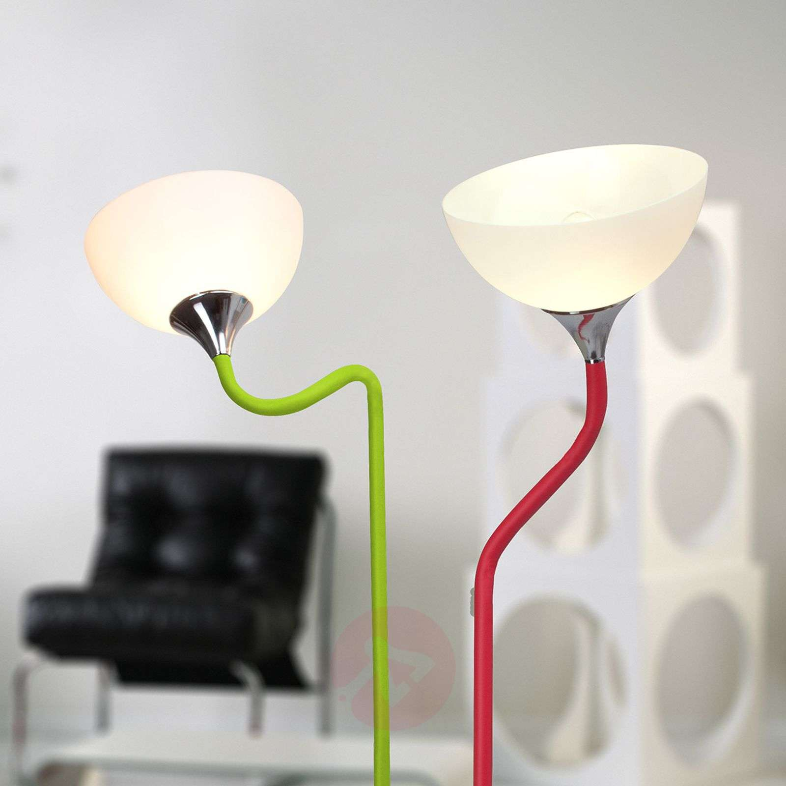 Lucie floor lamp, green-coloured frame-1509004-01