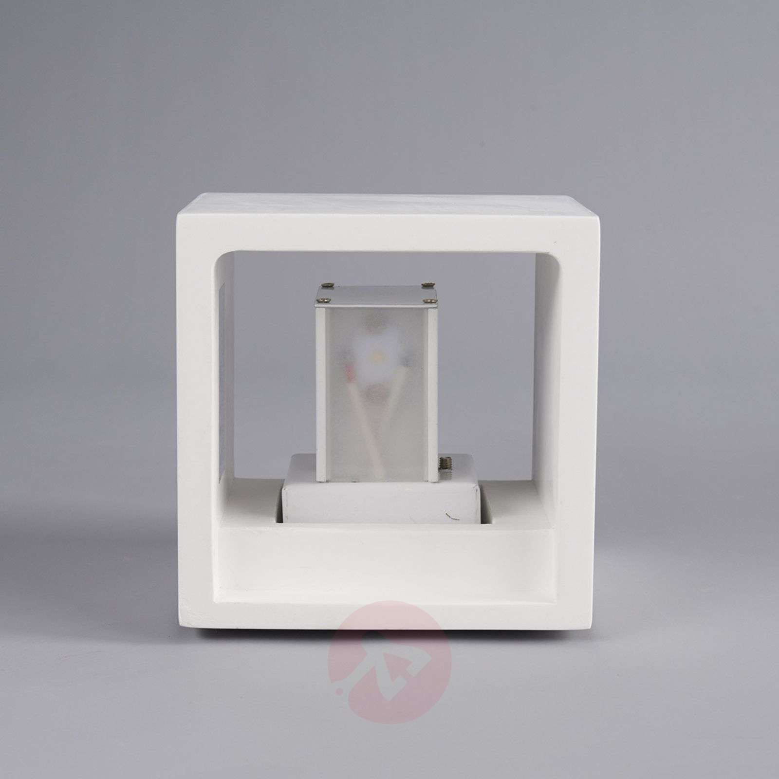 Marita LED Wall Light Cube-Shaped Plaster