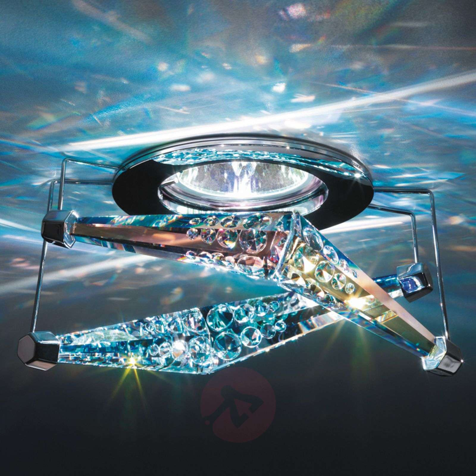 Melody recessed ceiling light with crystal lights melody recessed ceiling light with crystal 8578080 01 aloadofball Images