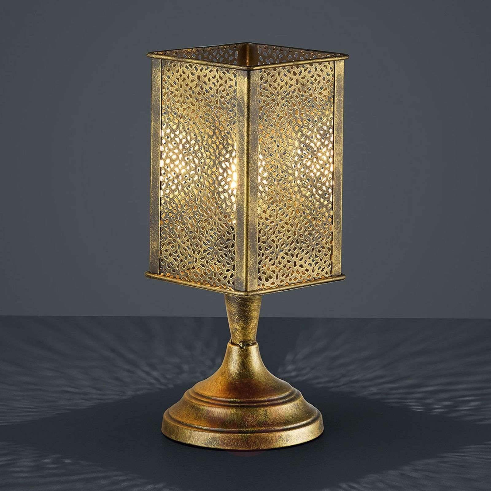 Metal Table Lamp Jana Oriental Look Antique Brass Lights Co Uk
