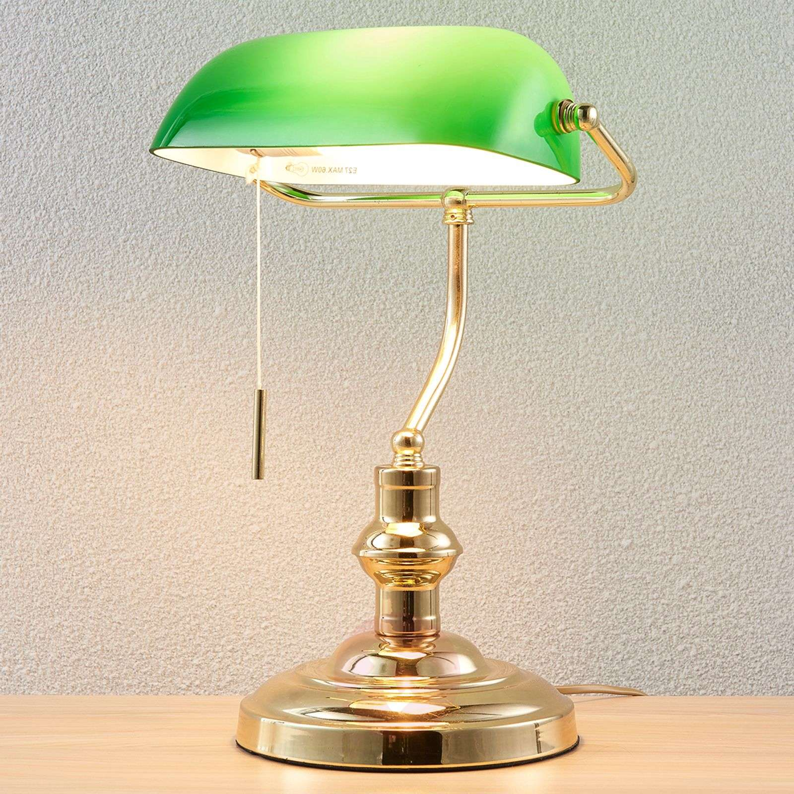 Buy table lamps classicantique from lights milenka bankers lamp polished brass aloadofball Image collections