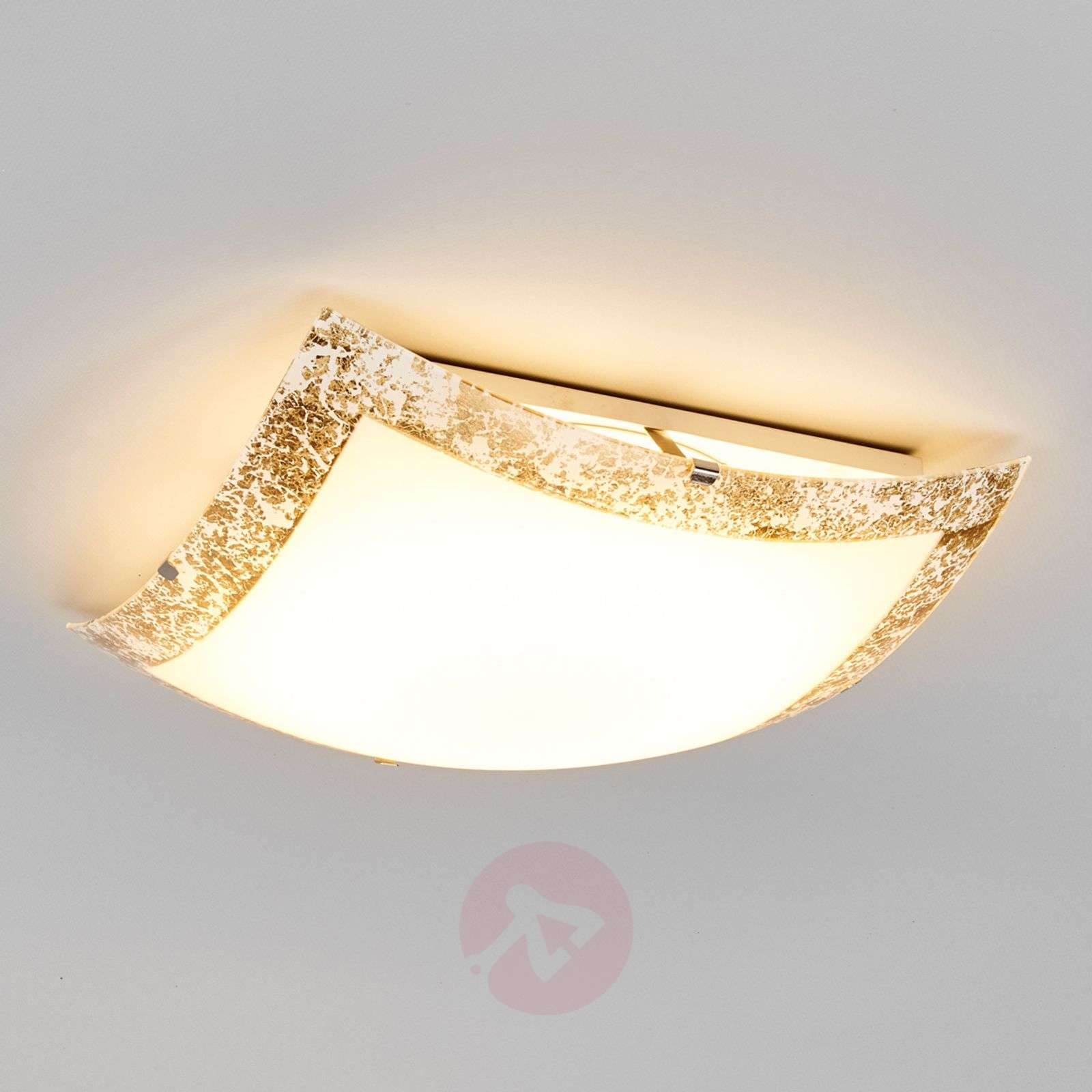 Mirella led ceiling light with a gold border